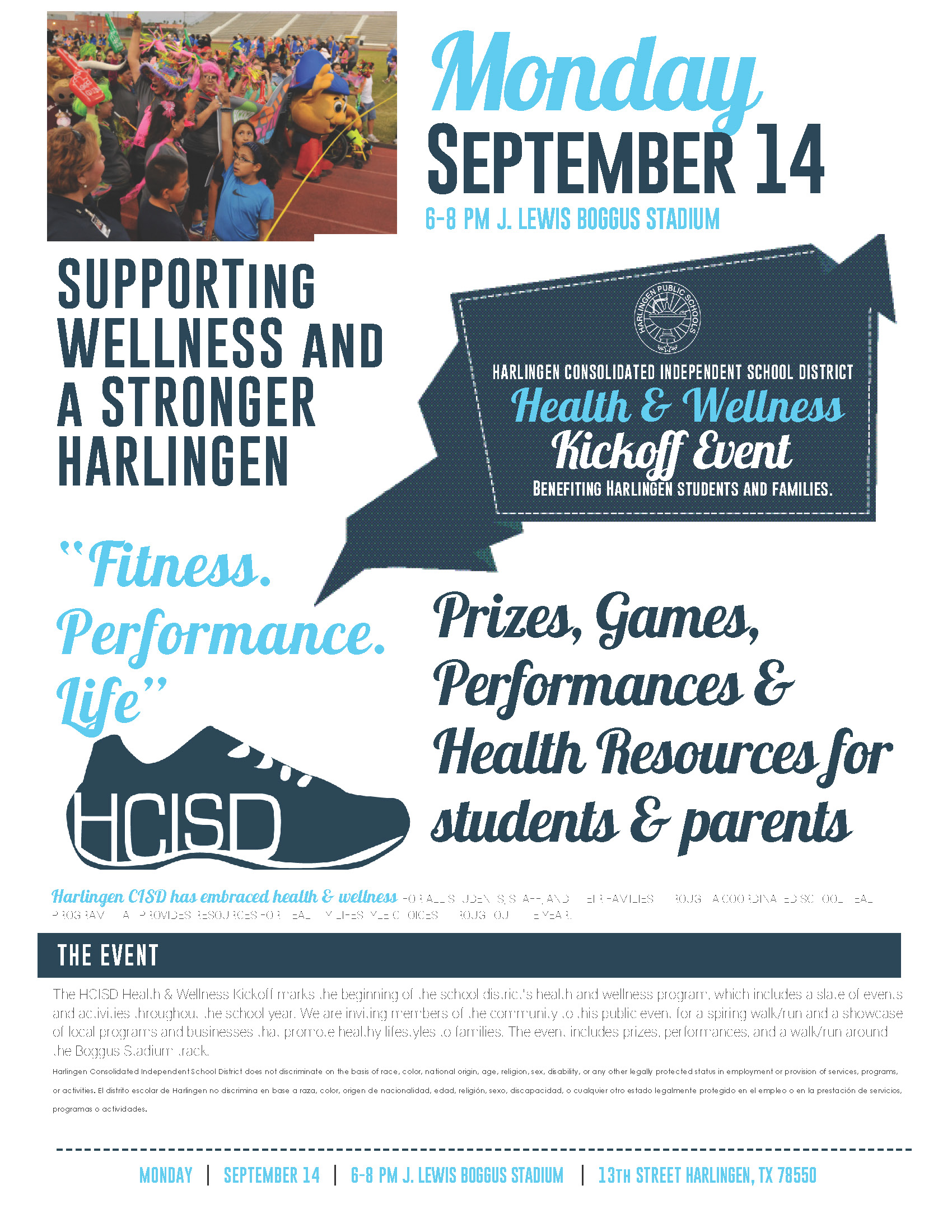 HCISD hosts annual Wellness Walk on Sept. 14