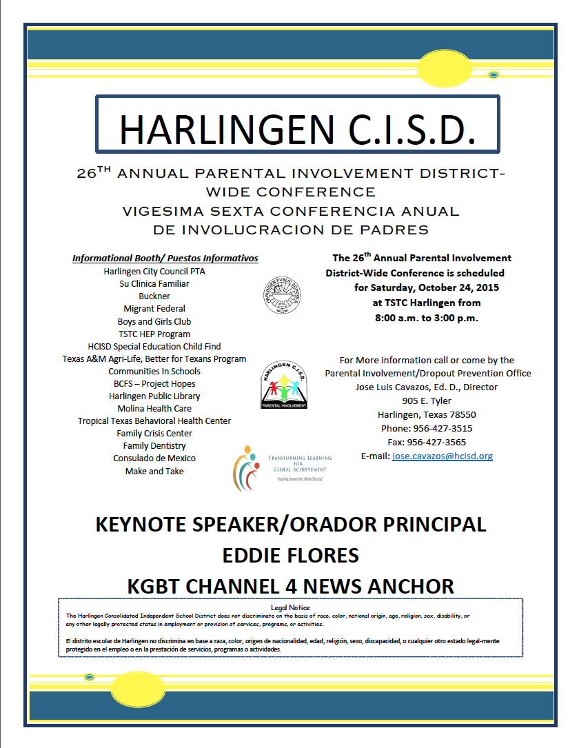 HCISD to host 26th annual Parental Involvement Conference