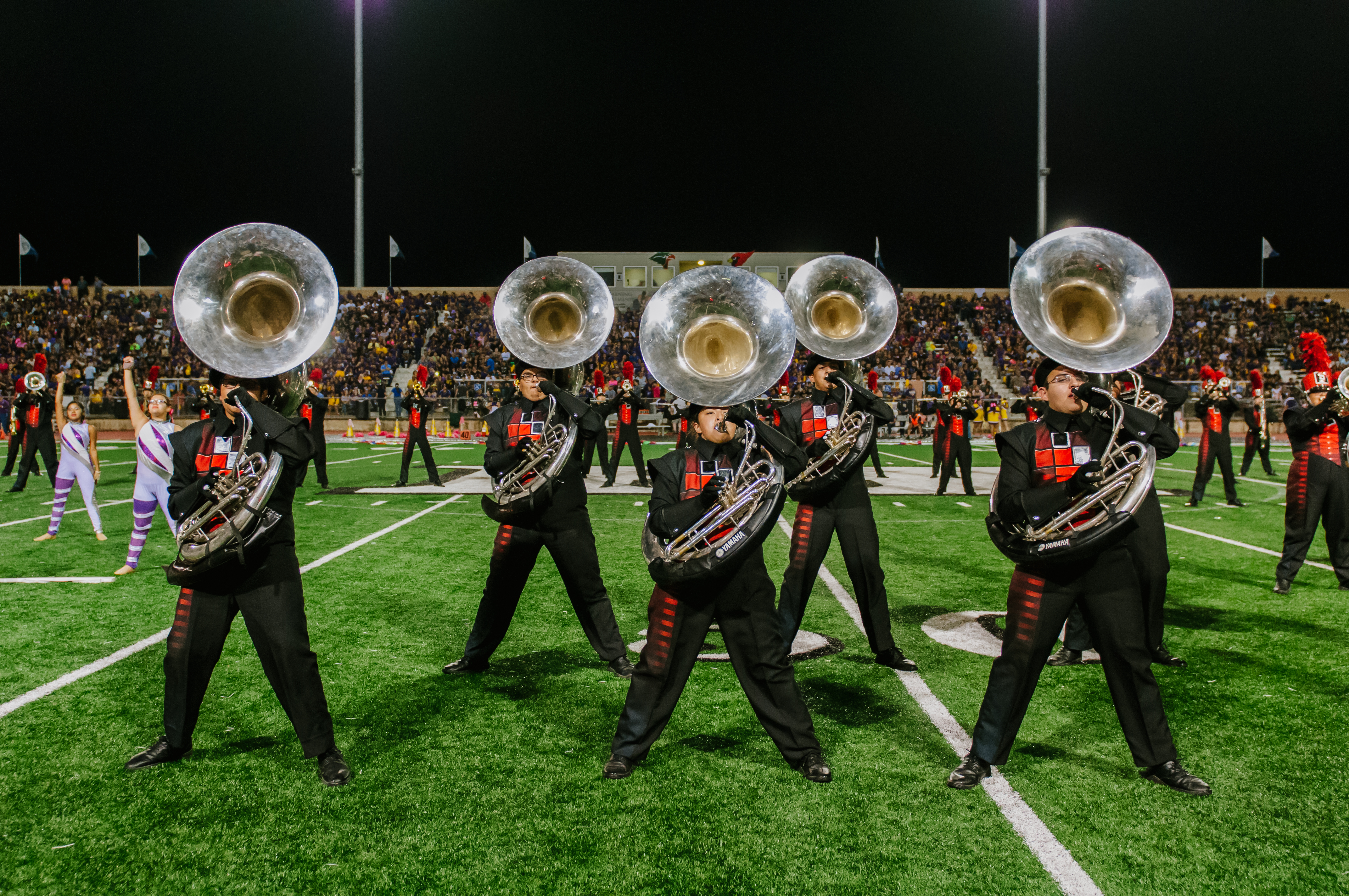 Marching bands end their season on a high note at 73rd Pigskin Jubilee