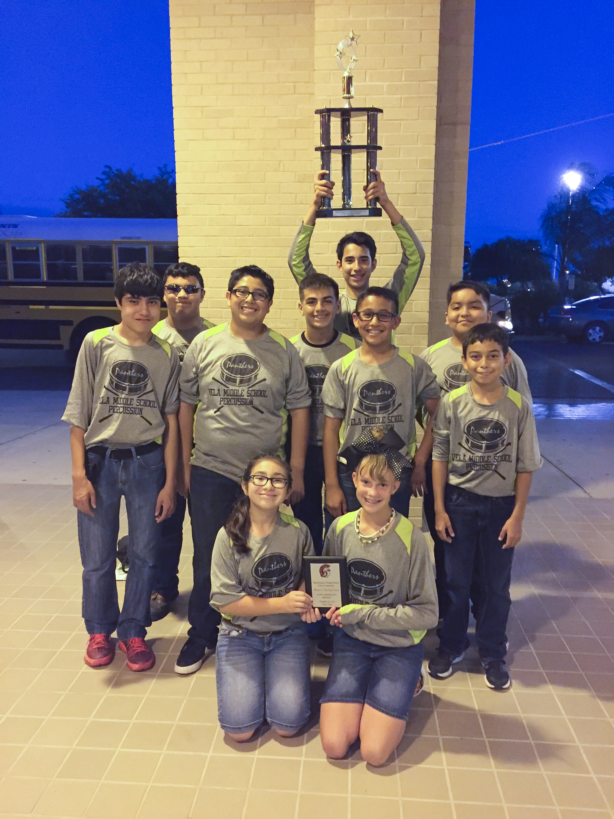 Vela percussion ensemble takes top spot at competition