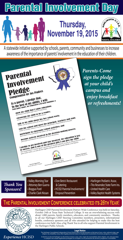 HCISD celebrates Parental Involvement Day