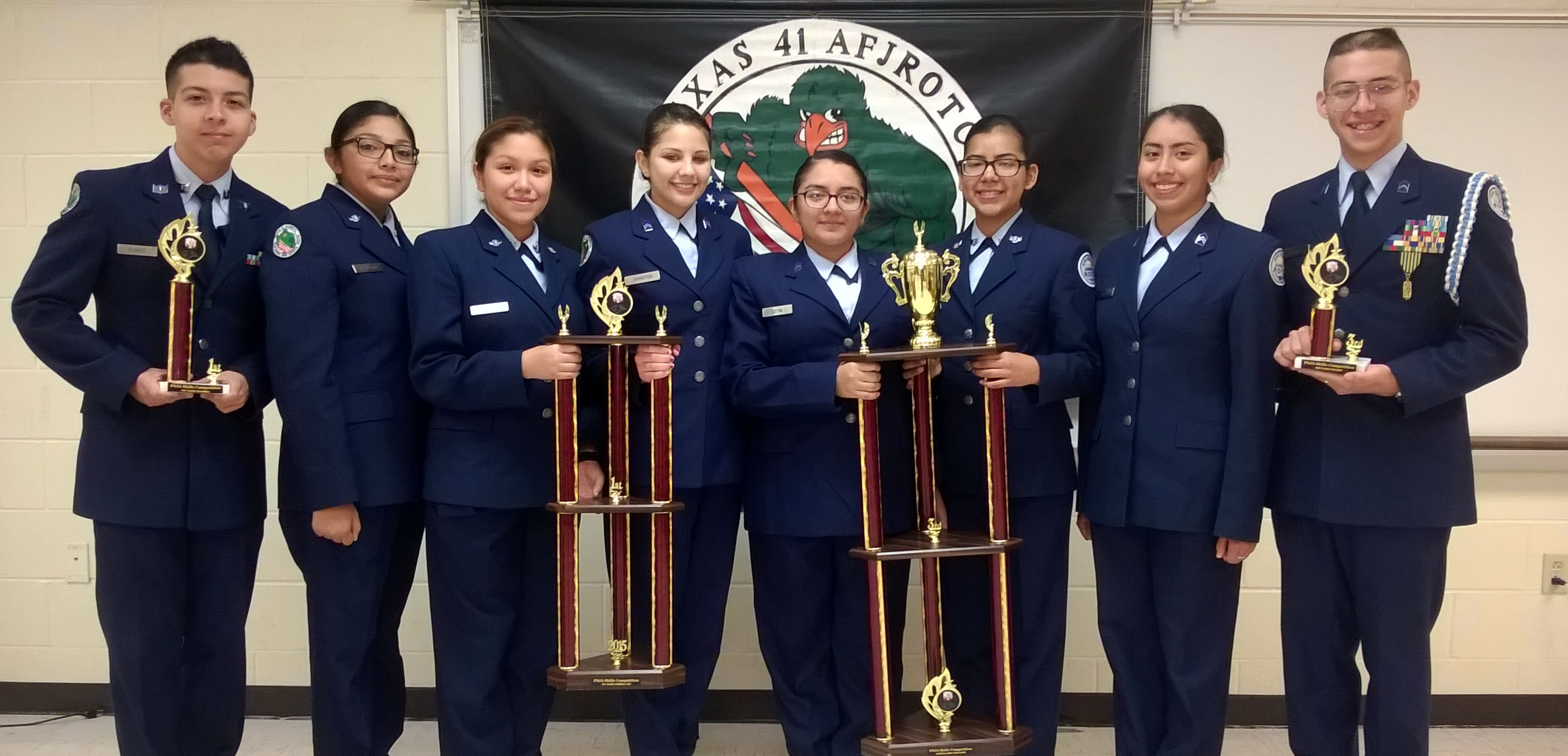 South's color guard team takes top spot at RGV JROTC meet
