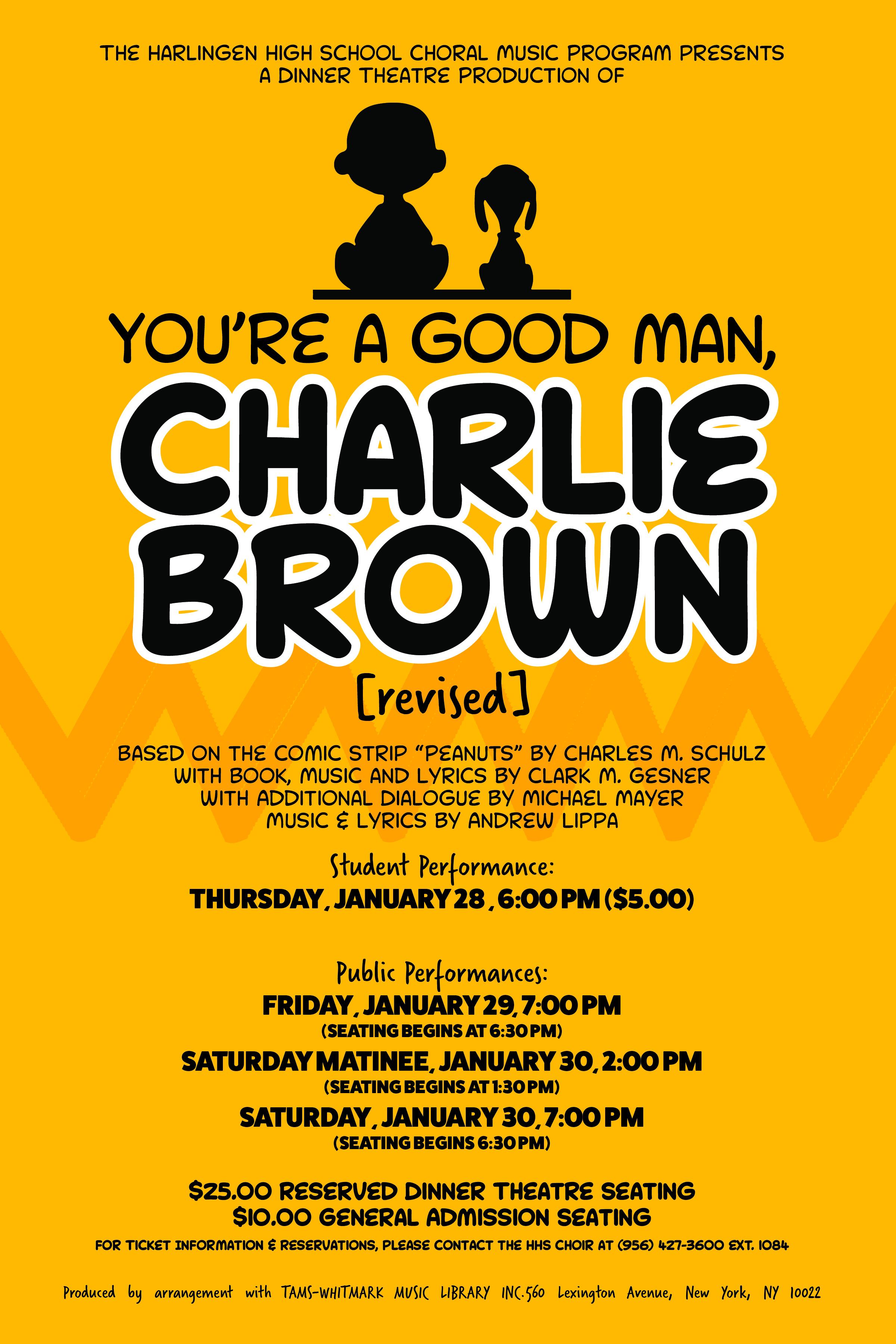 HHS choir presents You're a Good Man, Charlie Brown