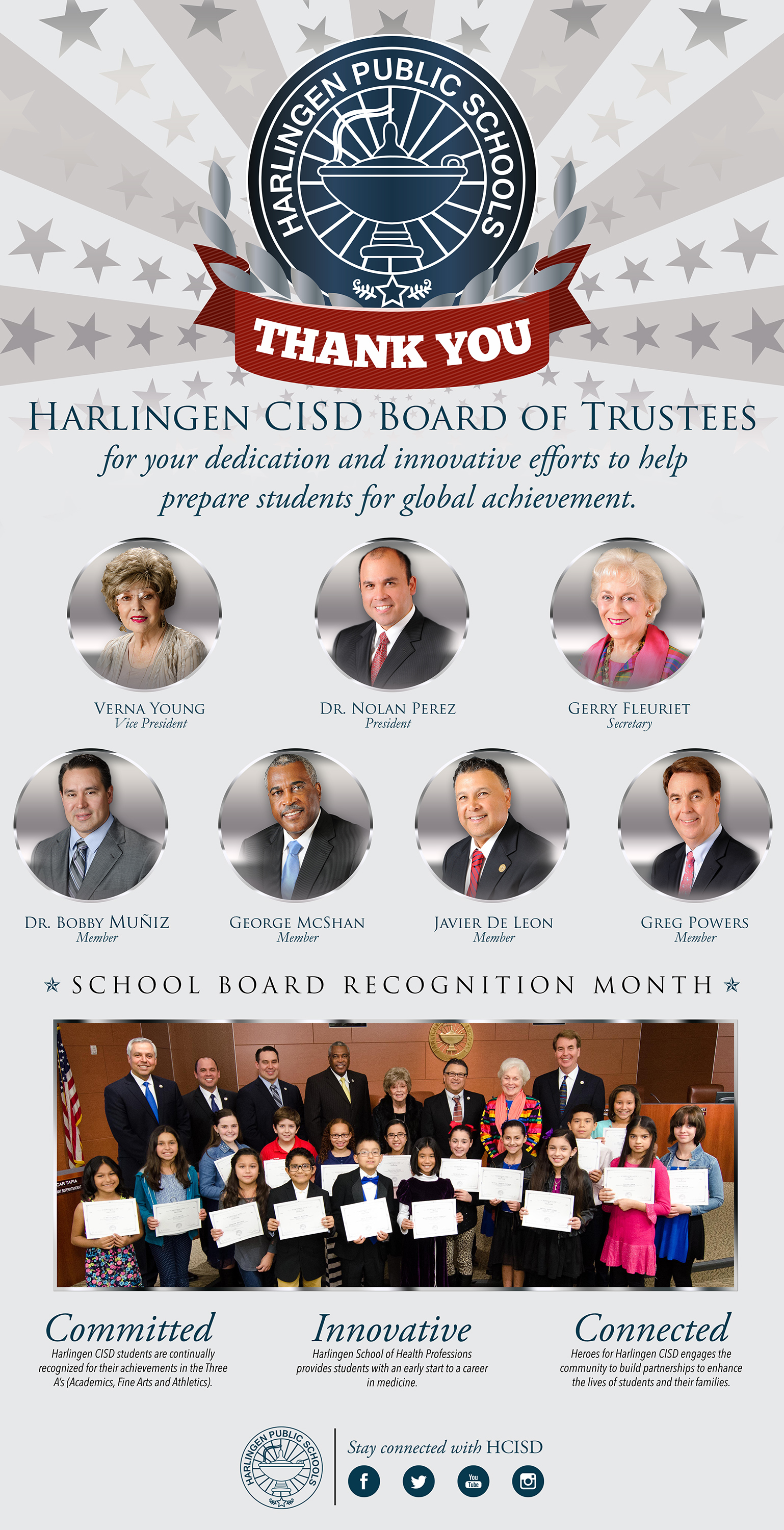HCISD celebrates School Board Recognition Month