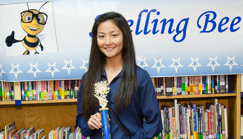 Memorial Middle School student takes first at district spelling bee