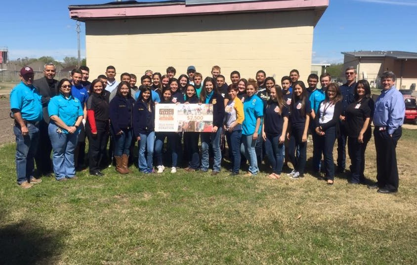 Harlingen HS FFA receives $2,500 donation