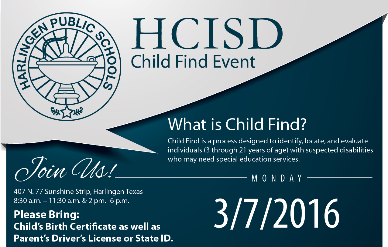 HCISD to host Child Find Event