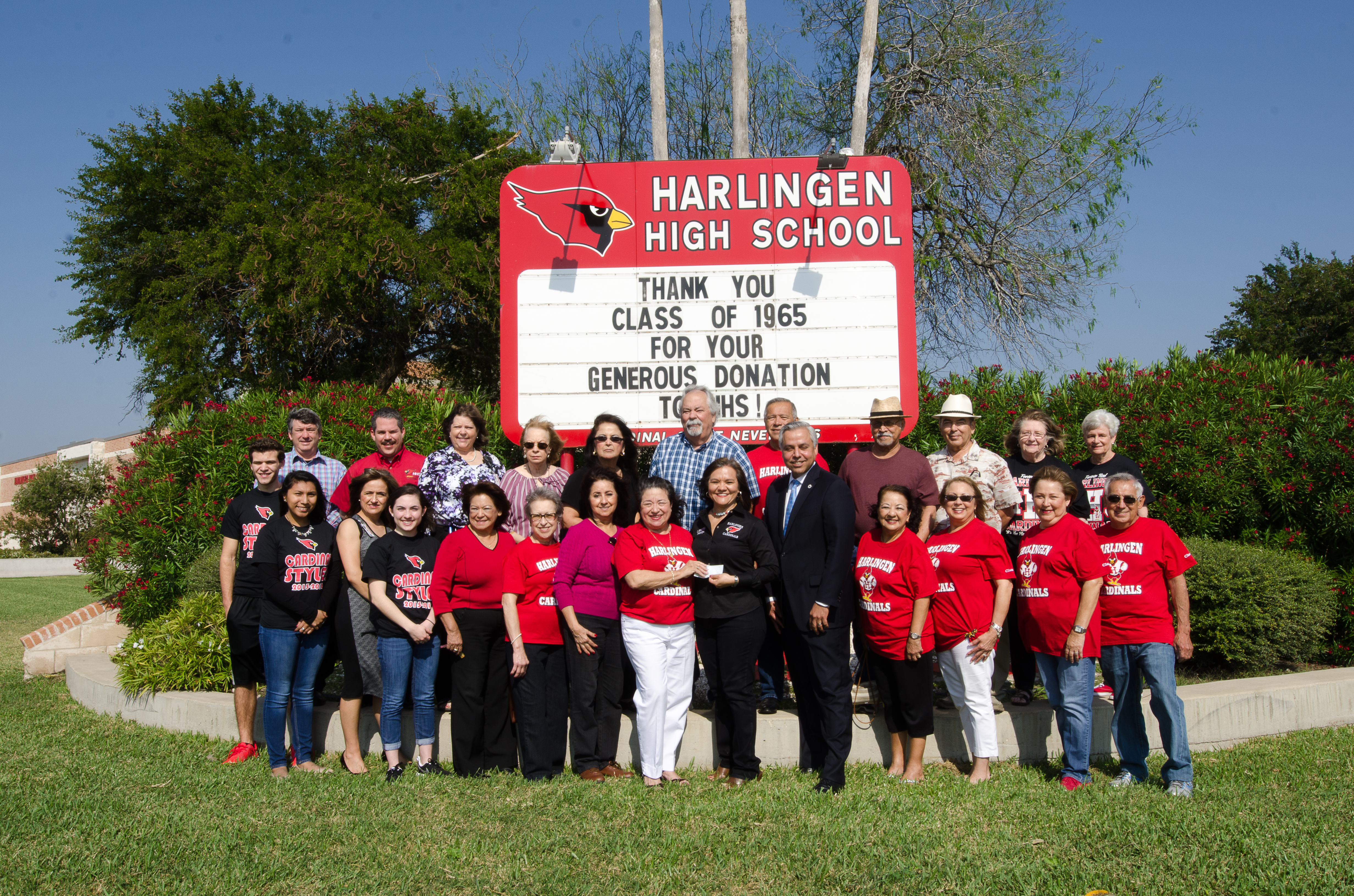 HHS Class of 1965 gives back to alma mater