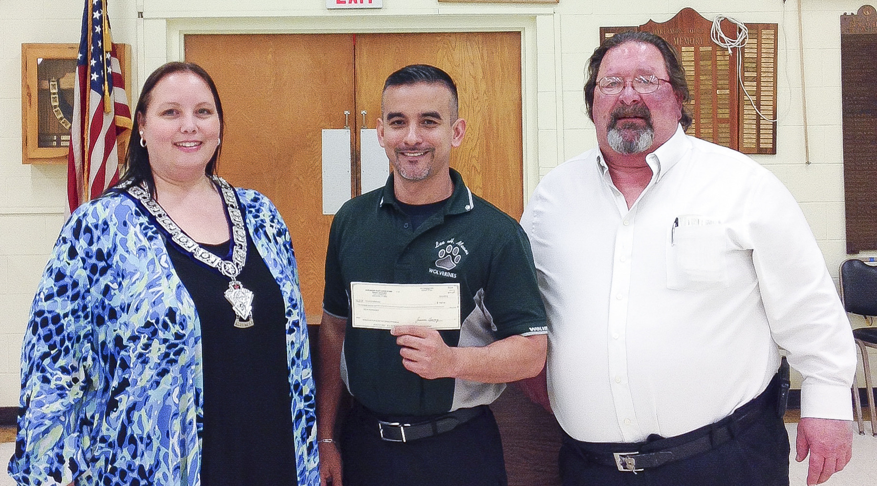 Elks Lodge awards Lee Means teacher $500 for math program