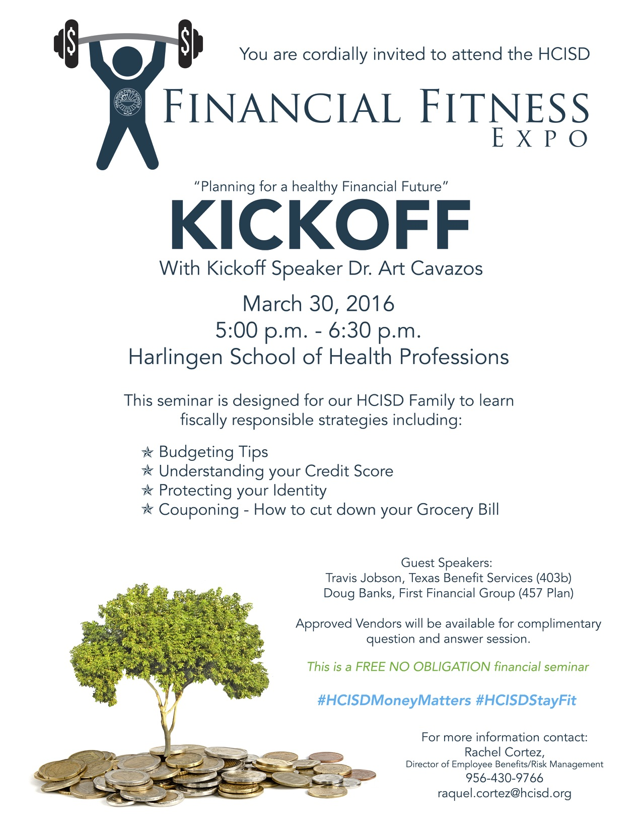 District to host Financial Fitness Expo for HCISD family