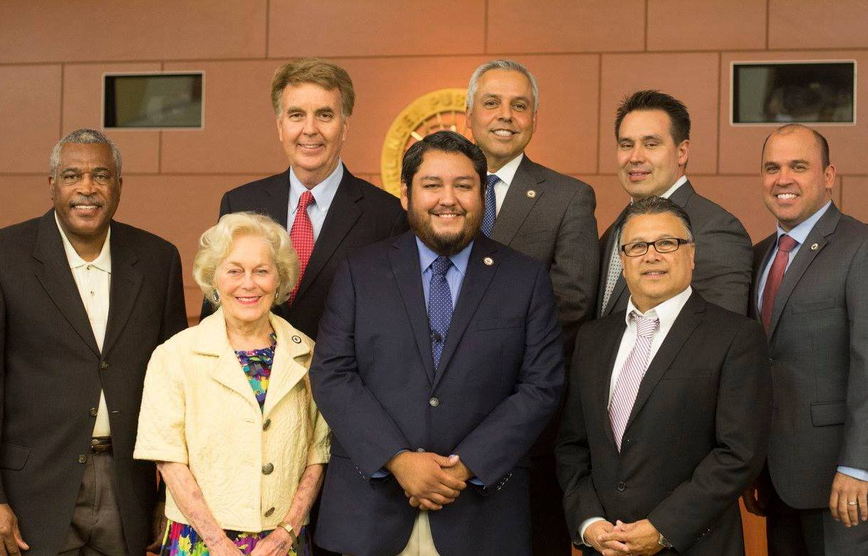 Eladio Jaimez sworn in as HCISD Board of Trustee