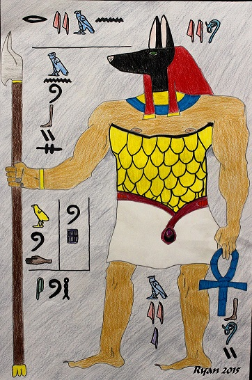 Anubis by Ryan Borgen, 8th grade, Vernon Middle School