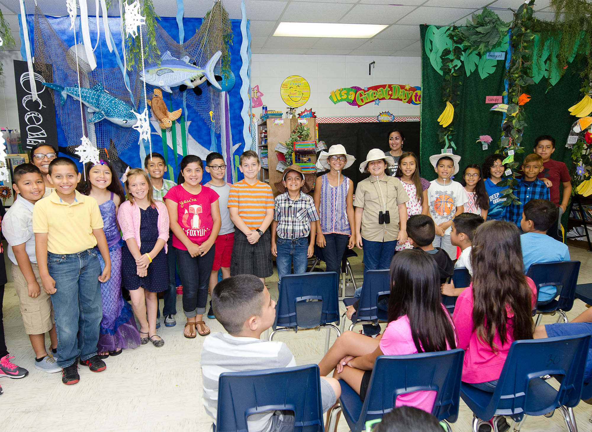 Long Elementary students captivate audience with technology-infused biomes