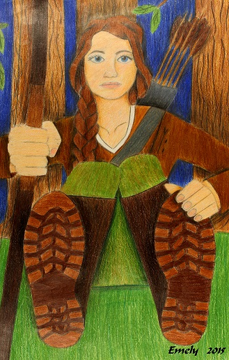 Foreshortening by Emely Leandro, 8th grade, Vernon Middle School