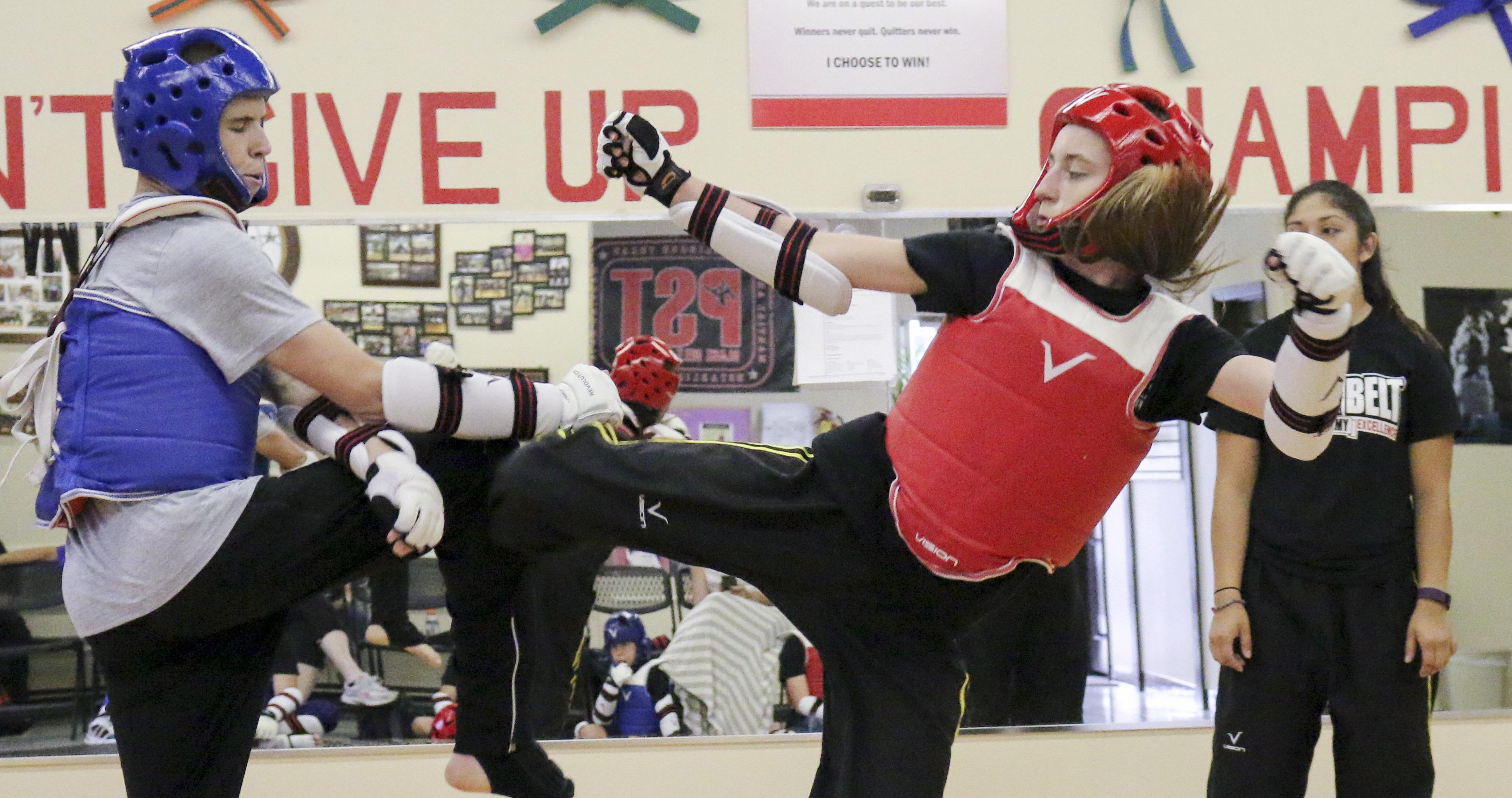 Incoming freshman aspires to make the Junior Olympic Taekwondo Team