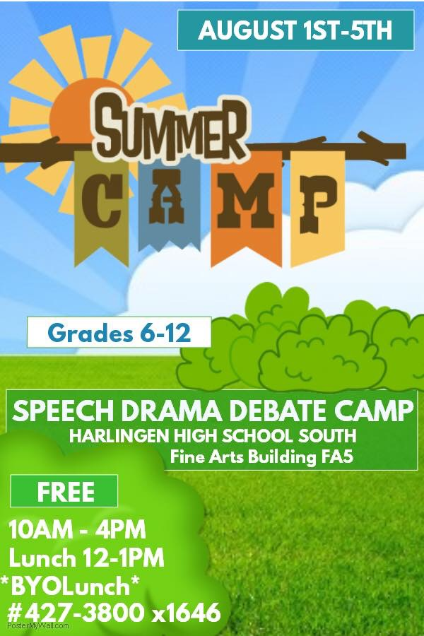 Harlingen South Speech Drama and Debate hosts summer camp