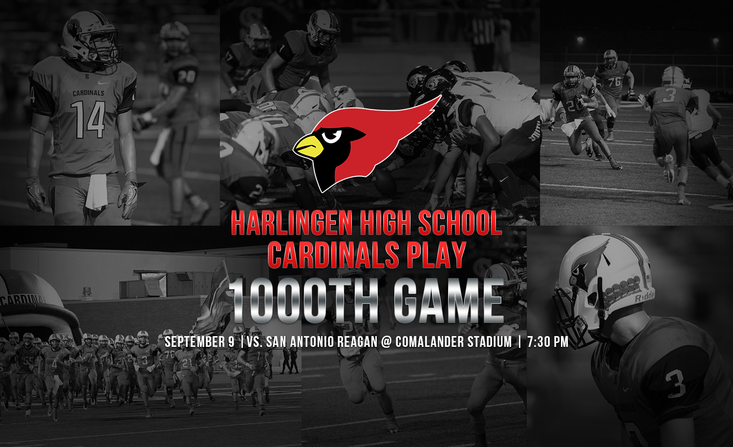 Harlingen High School Cardinals play 1000th game