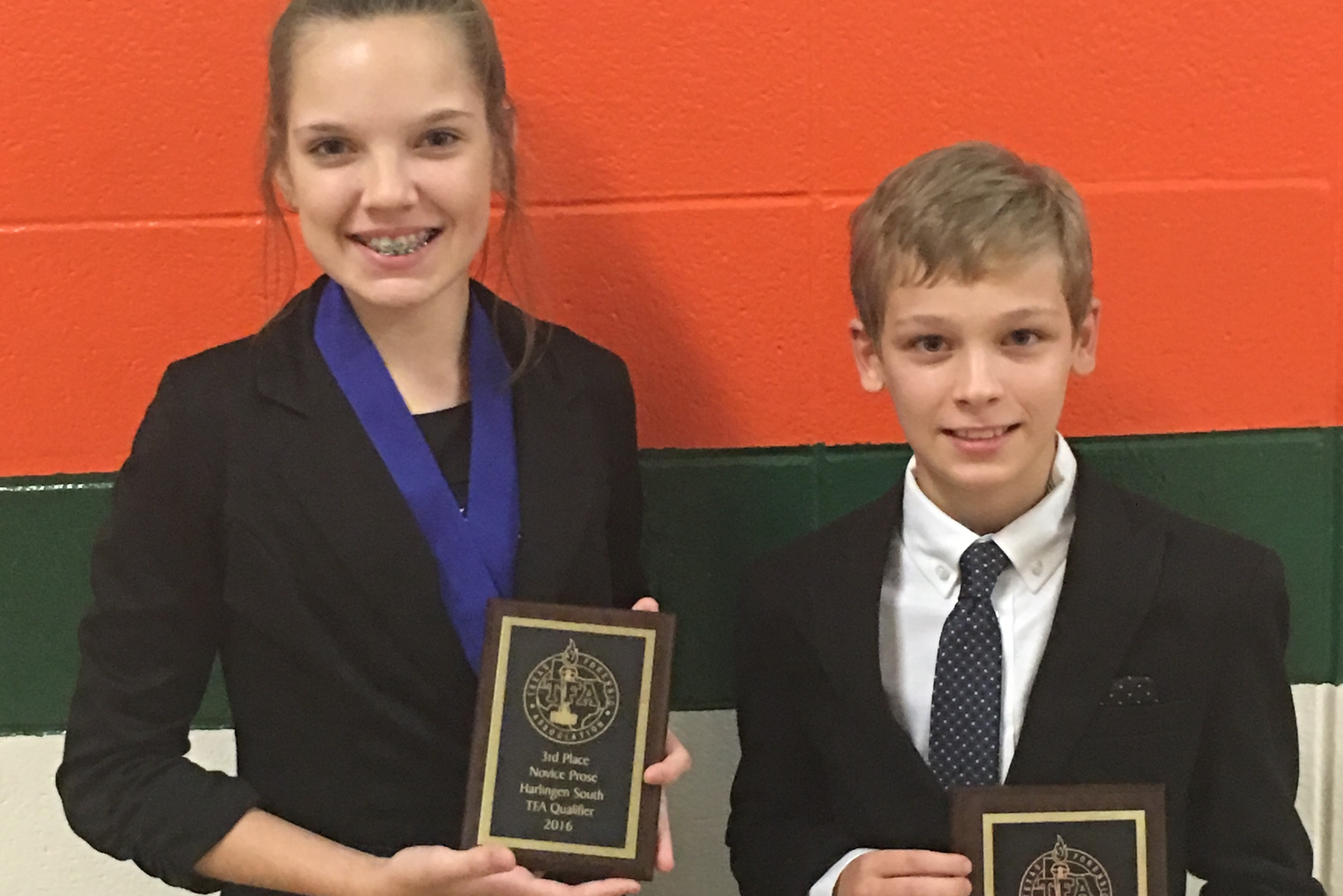 Vela Middle School students give outstanding performances at TFA State qualifying tournament