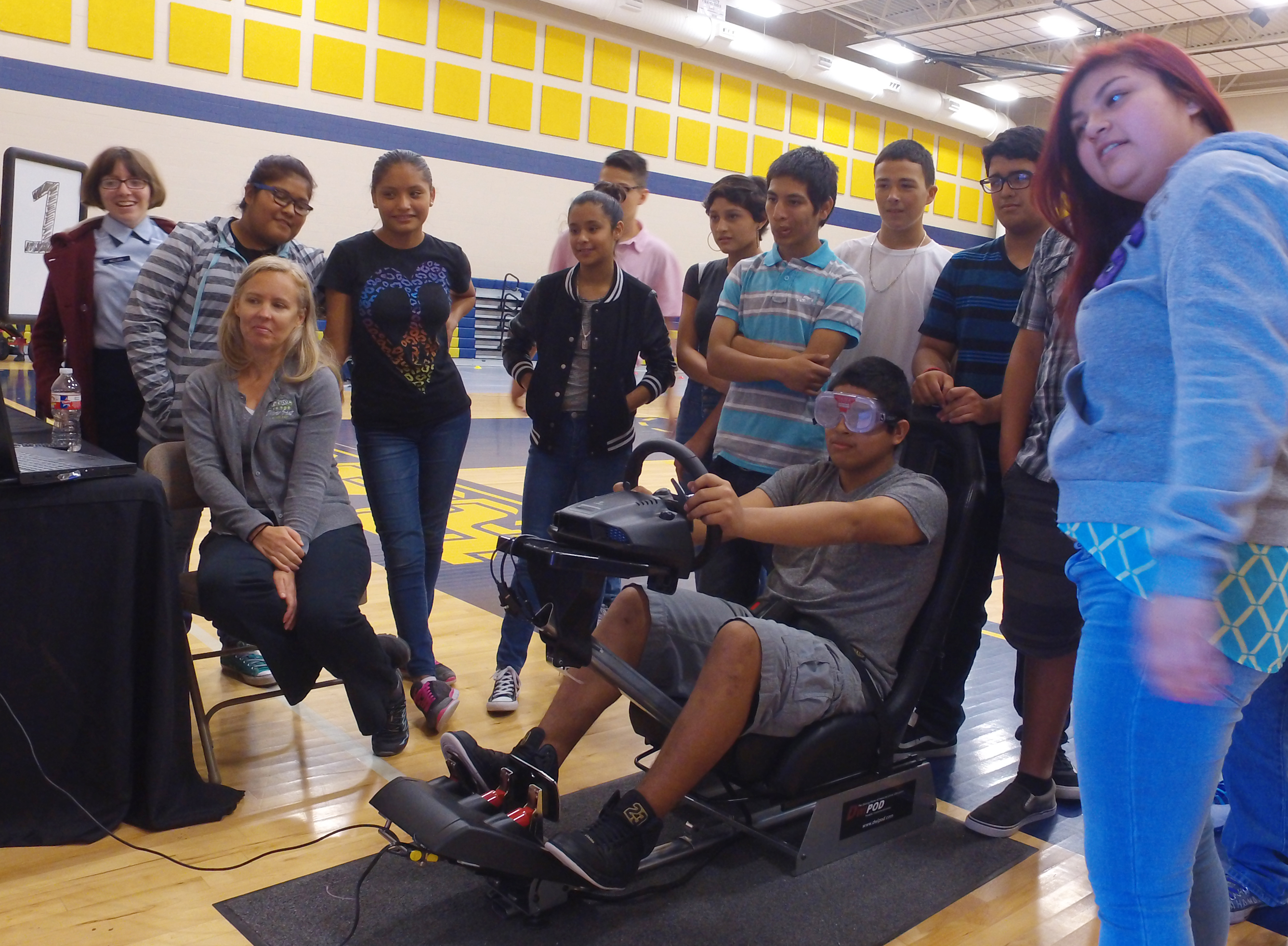 Teens in the Driver Seat event teaches students the importance of safe driving