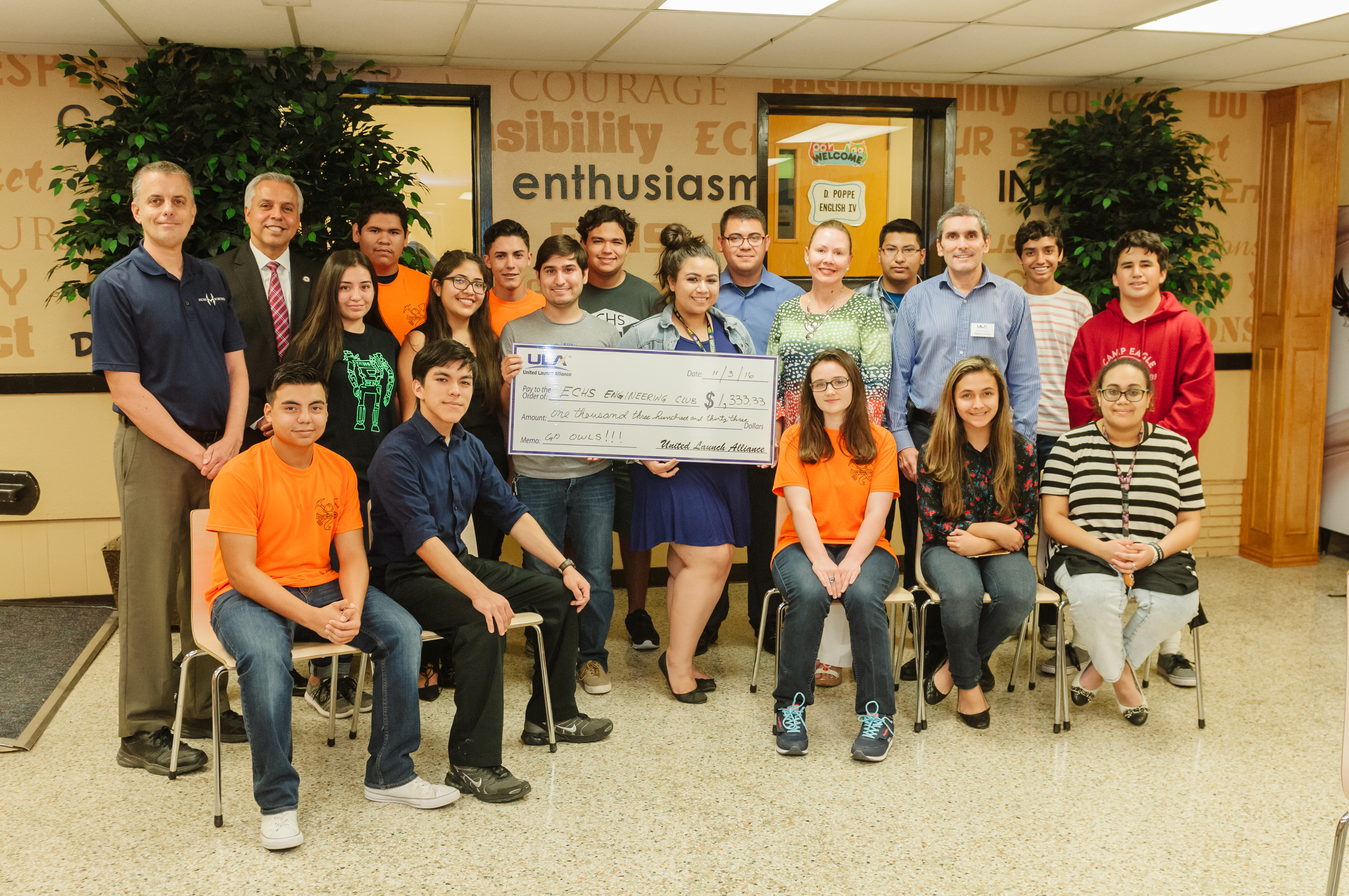 United Launch Alliance awards grant to ECHS Engineering Club