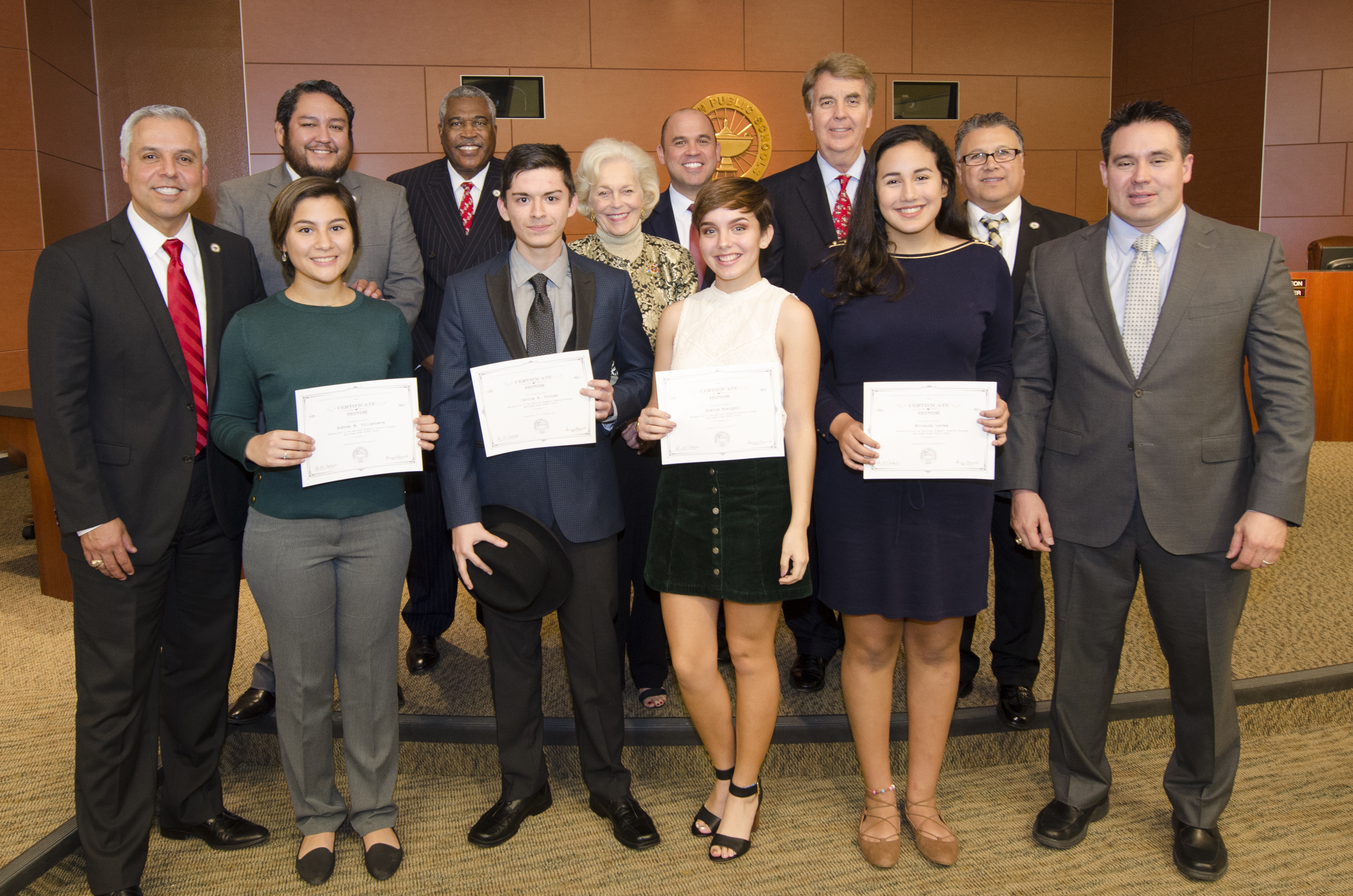 HCISD Scholars recognized at December Board Meeting