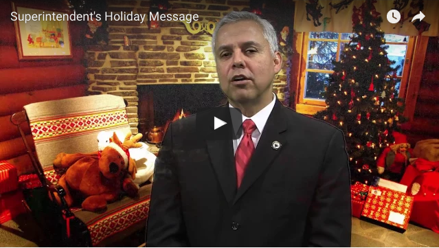 Superintendent's Message: 2016 a year of innovation, joyous holiday wishes