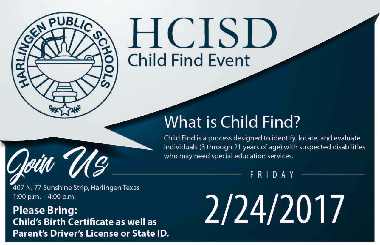 HCISD to hold Child Find Event