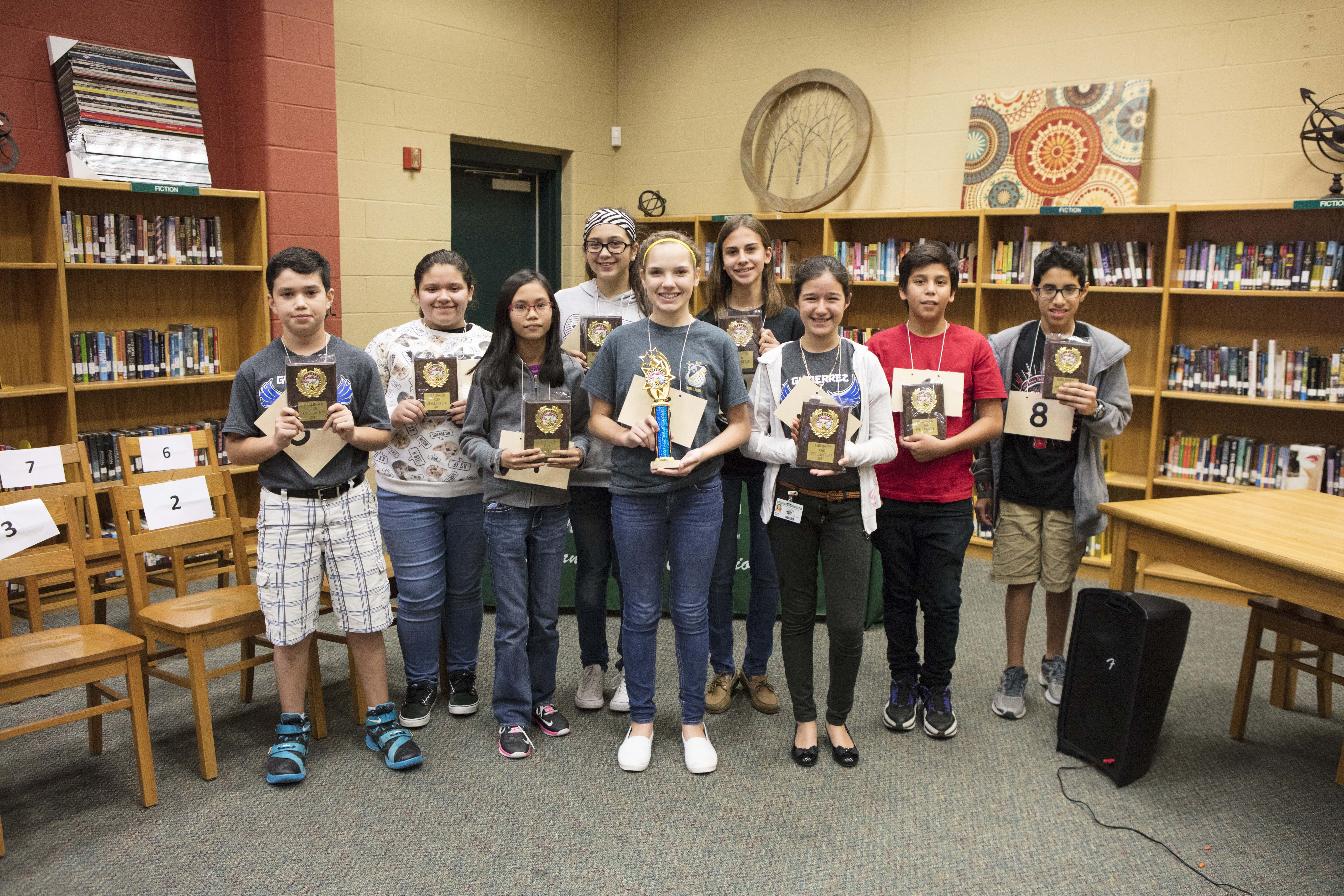 Students put their skills to the test at district spelling bee
