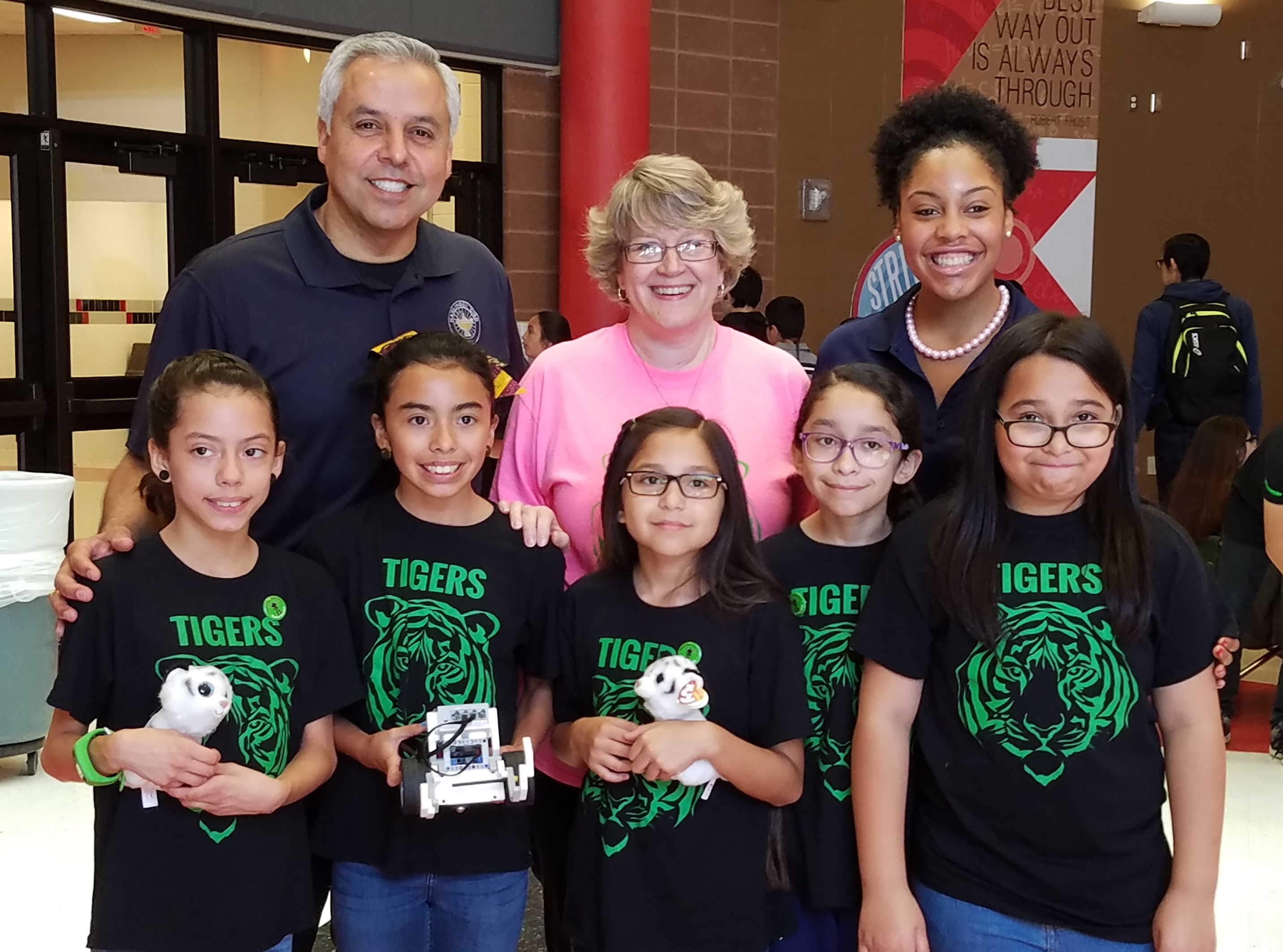 Top three FLL Robotics teams advancing to state