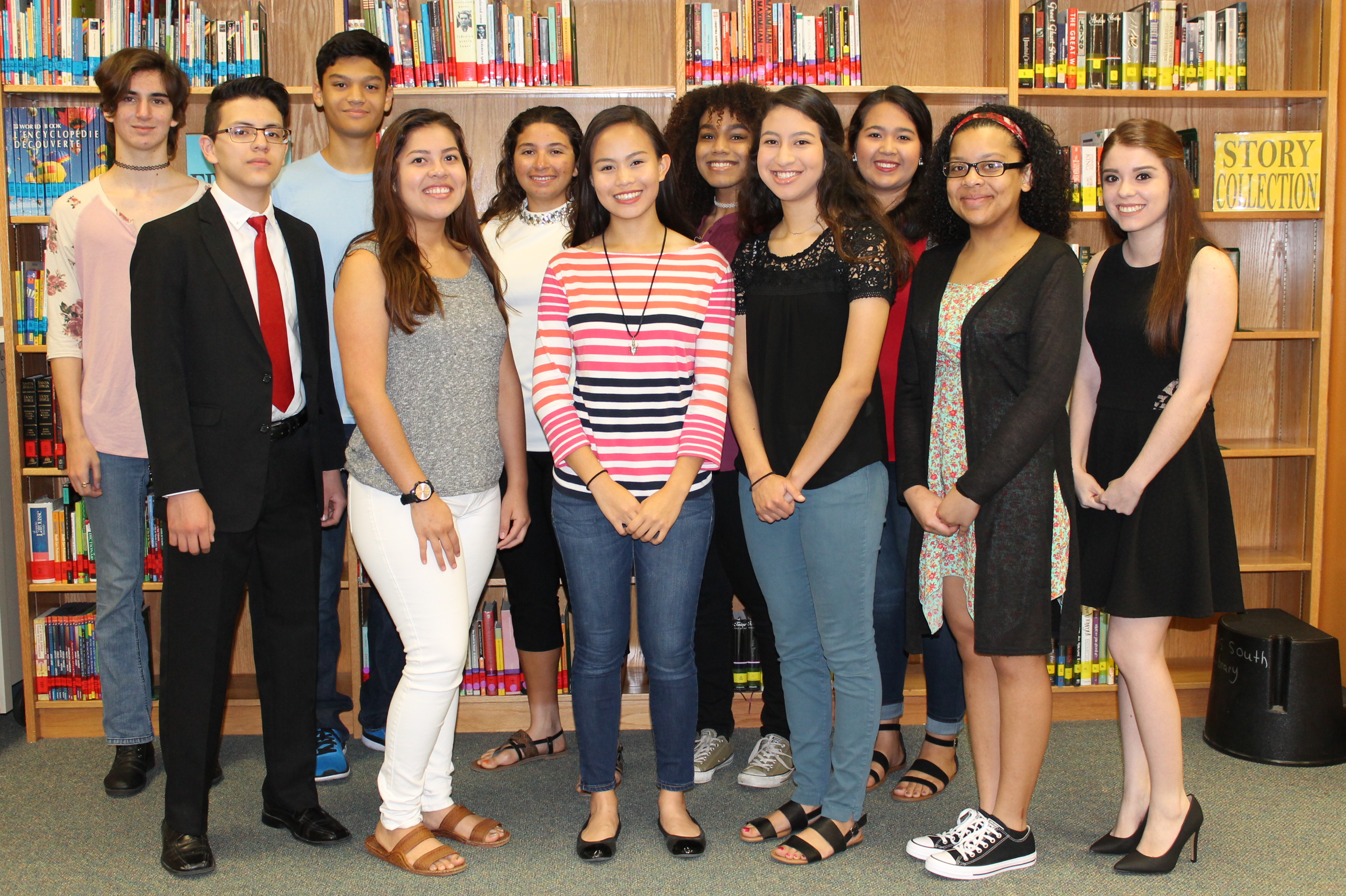 Seventeen HHSS Latin Club members advancing to State Competition