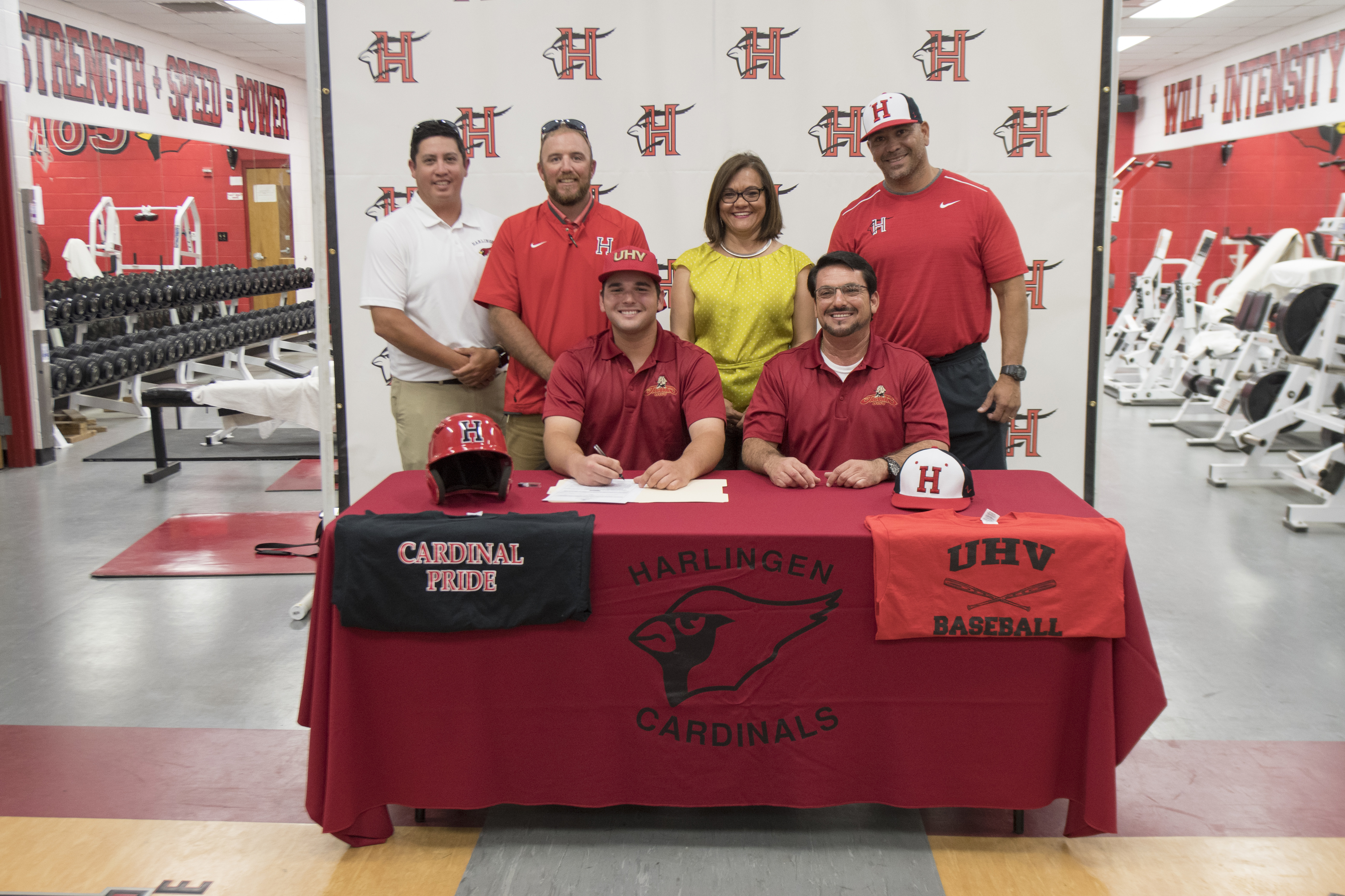 Cardinal athlete signs to play baseball for the University of Houston-Victoria