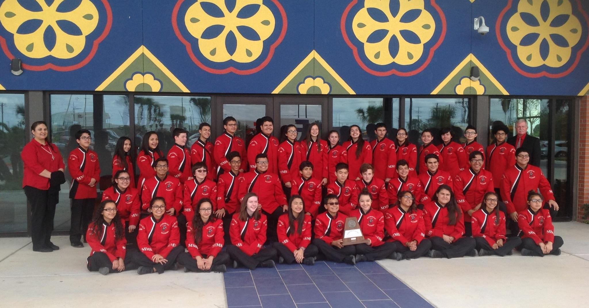 Memorial MS Band achieves 19 years of UIL Sweepstakes