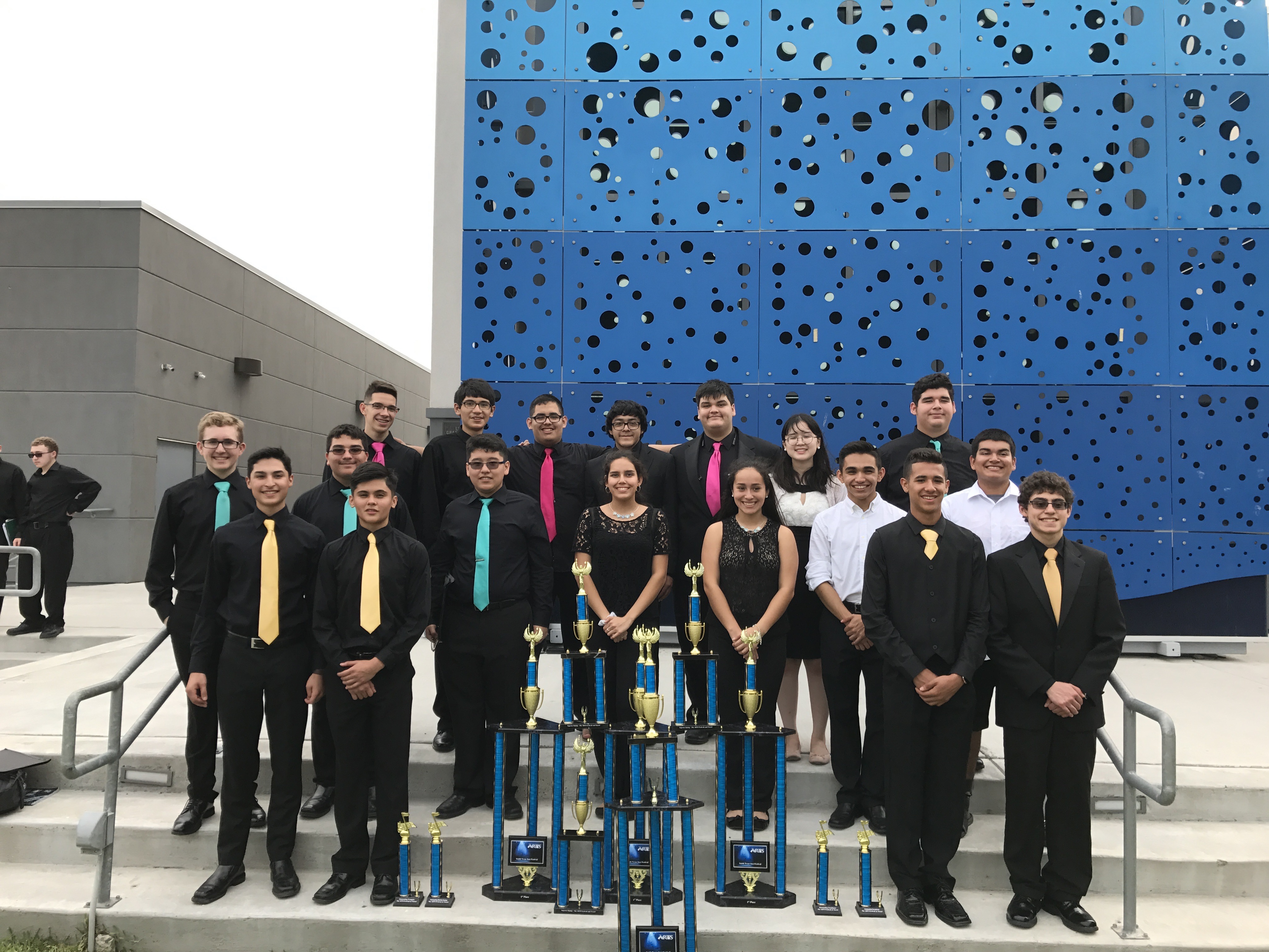 HHSS Jazz Ensembles, Salsa group, Winter Guard come out on top at contests