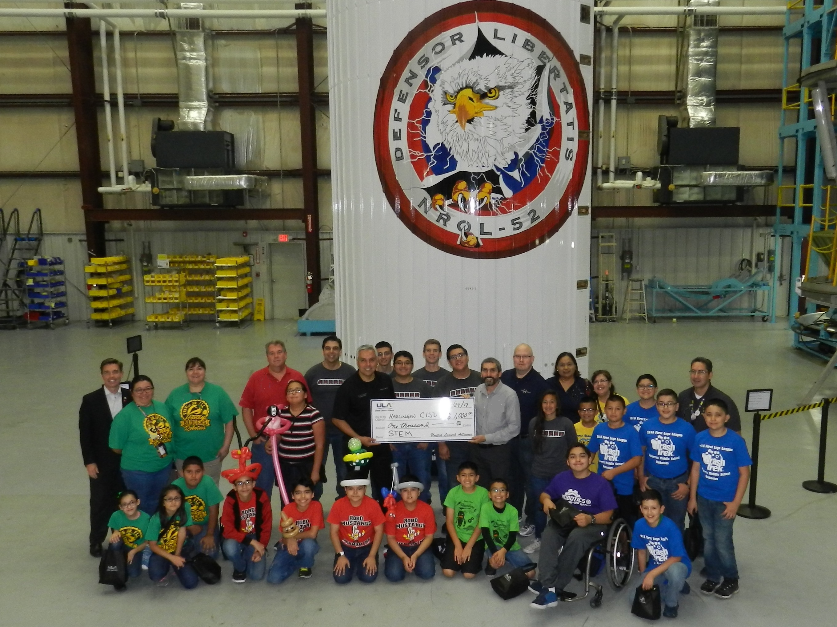 ULA donates $5,000 for HCISD STEM initiatives