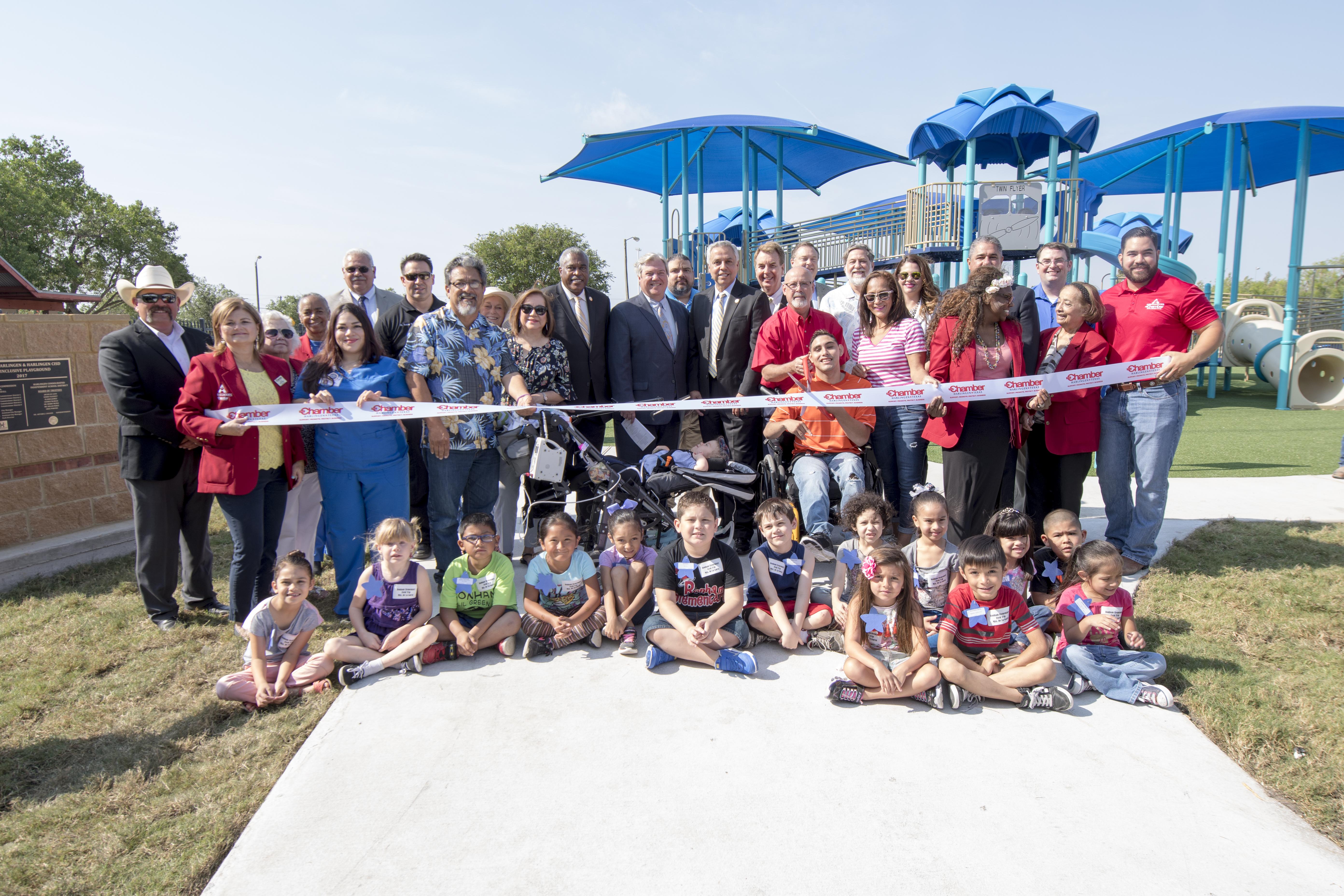 Harlingen community celebrates Pendleton All-Inclusive Playground Ribbon Cutting