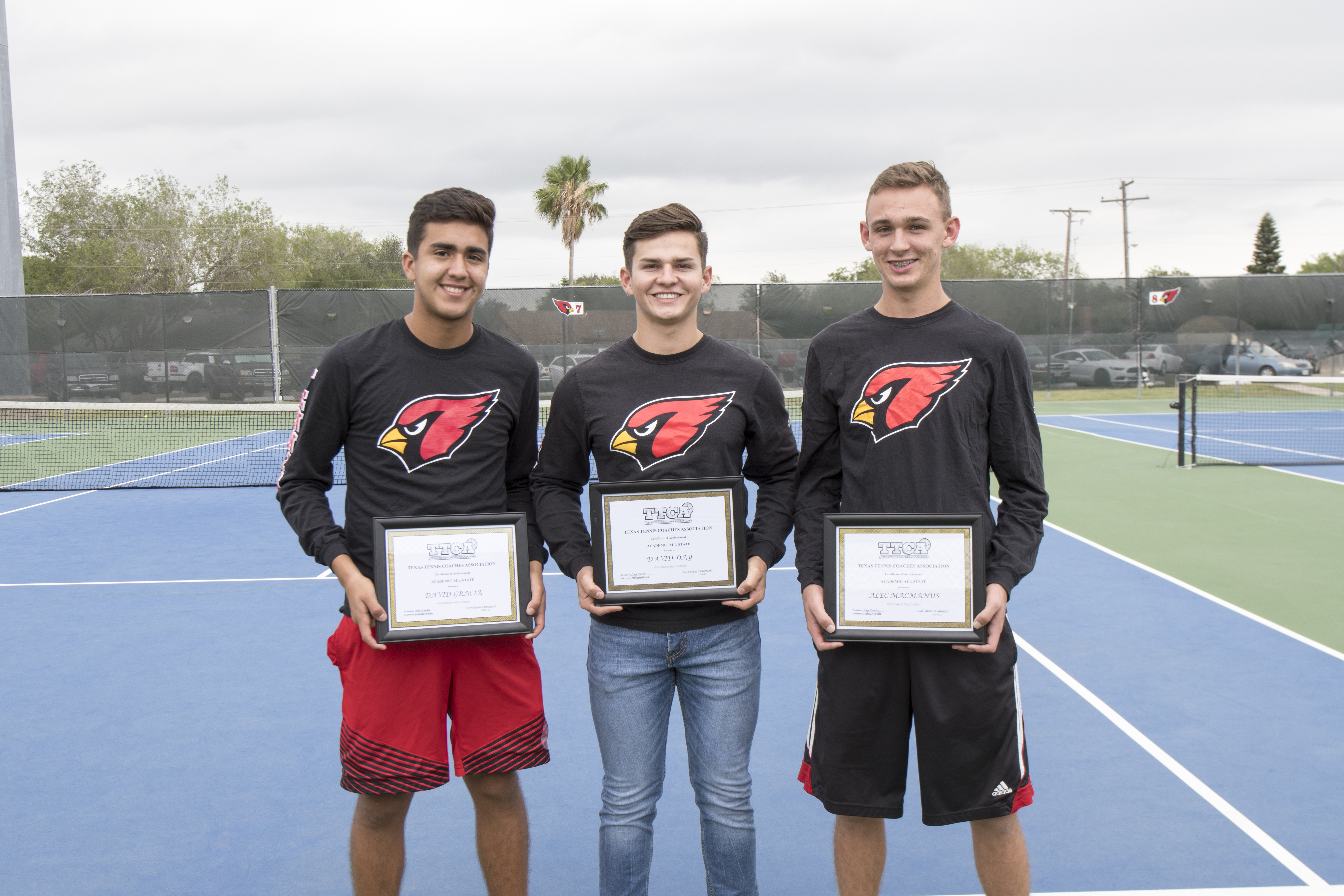 Three HHS tennis players named to TTCA Academic All-State Team