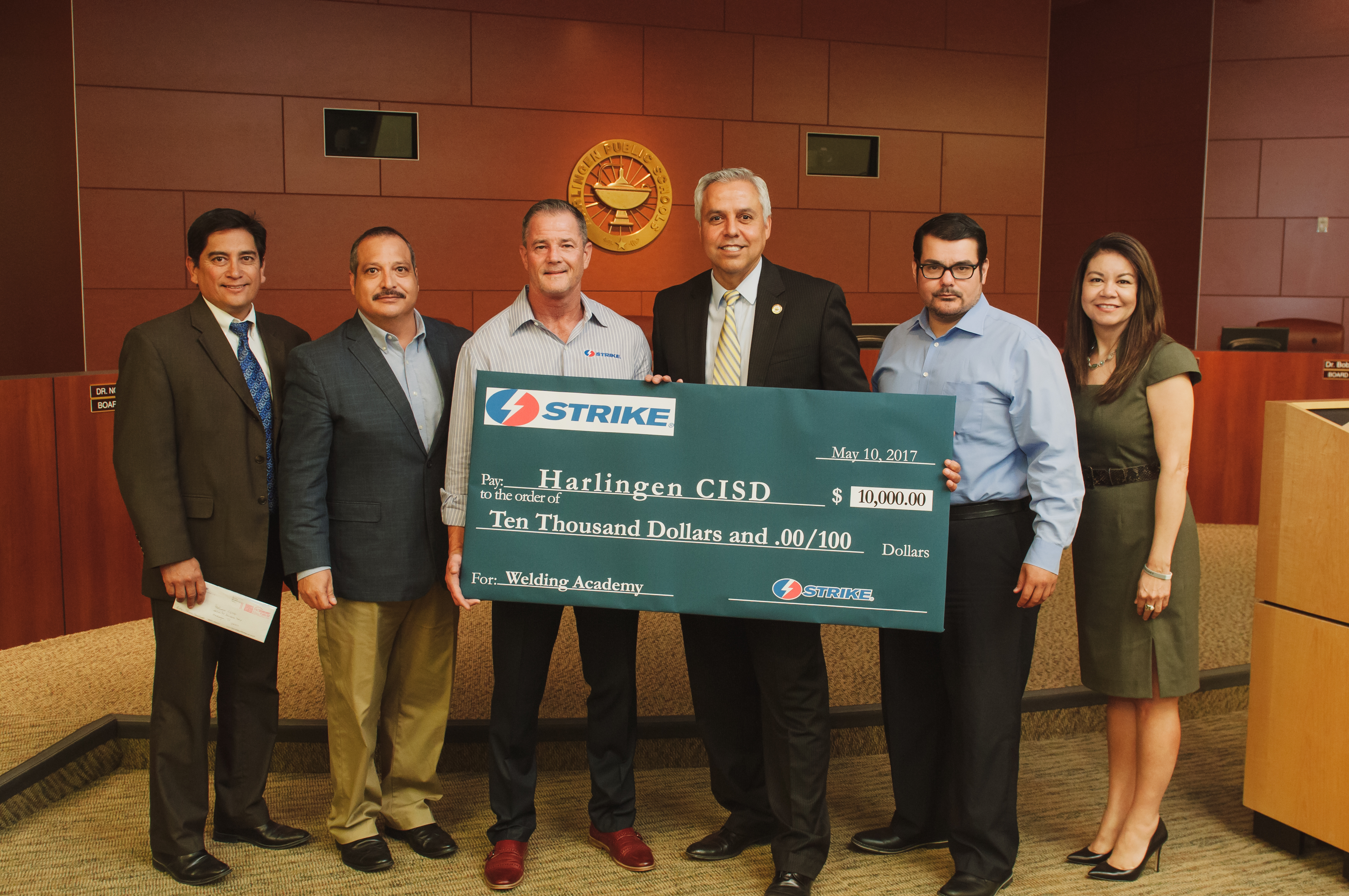 Strike donates $10,000 towards HCISD welding program