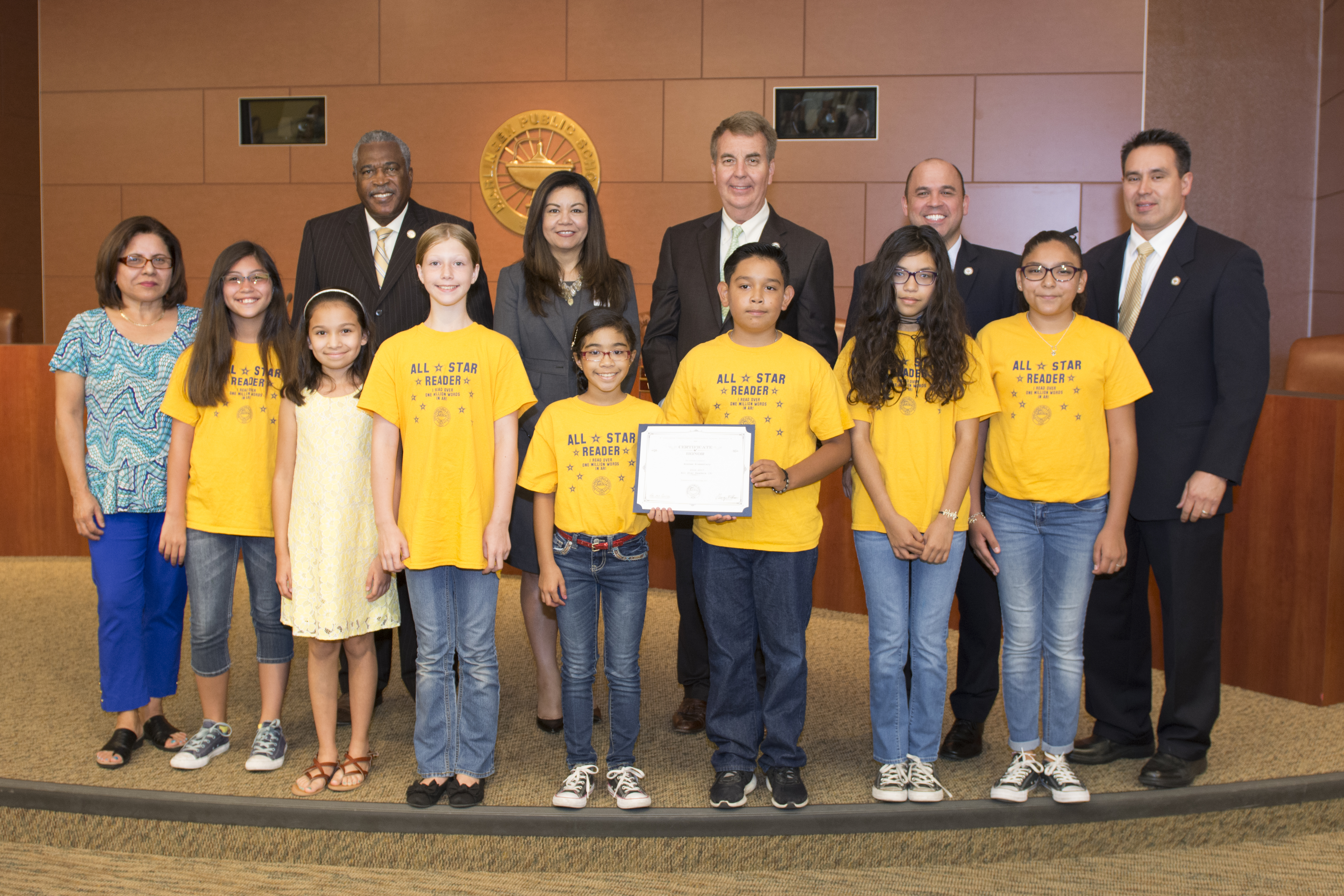 All-Star Readers recognized at June Board Meeting