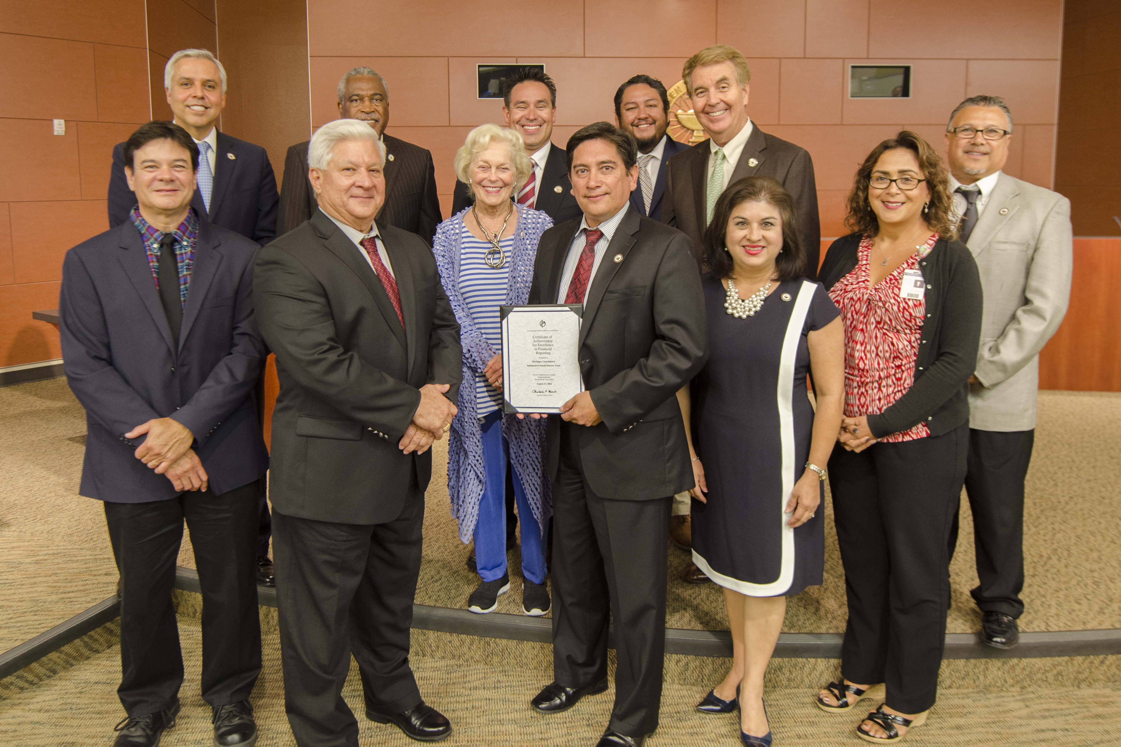 HCISD Business Services honored for achievement in financial reporting