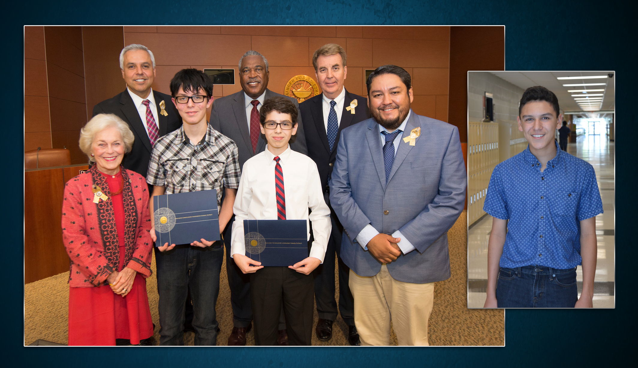 Middle school students honored for performance on college entrance exams