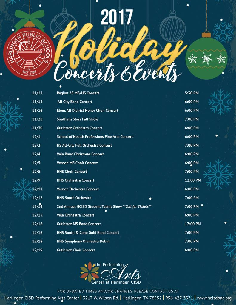 HolidayConcertSchedule