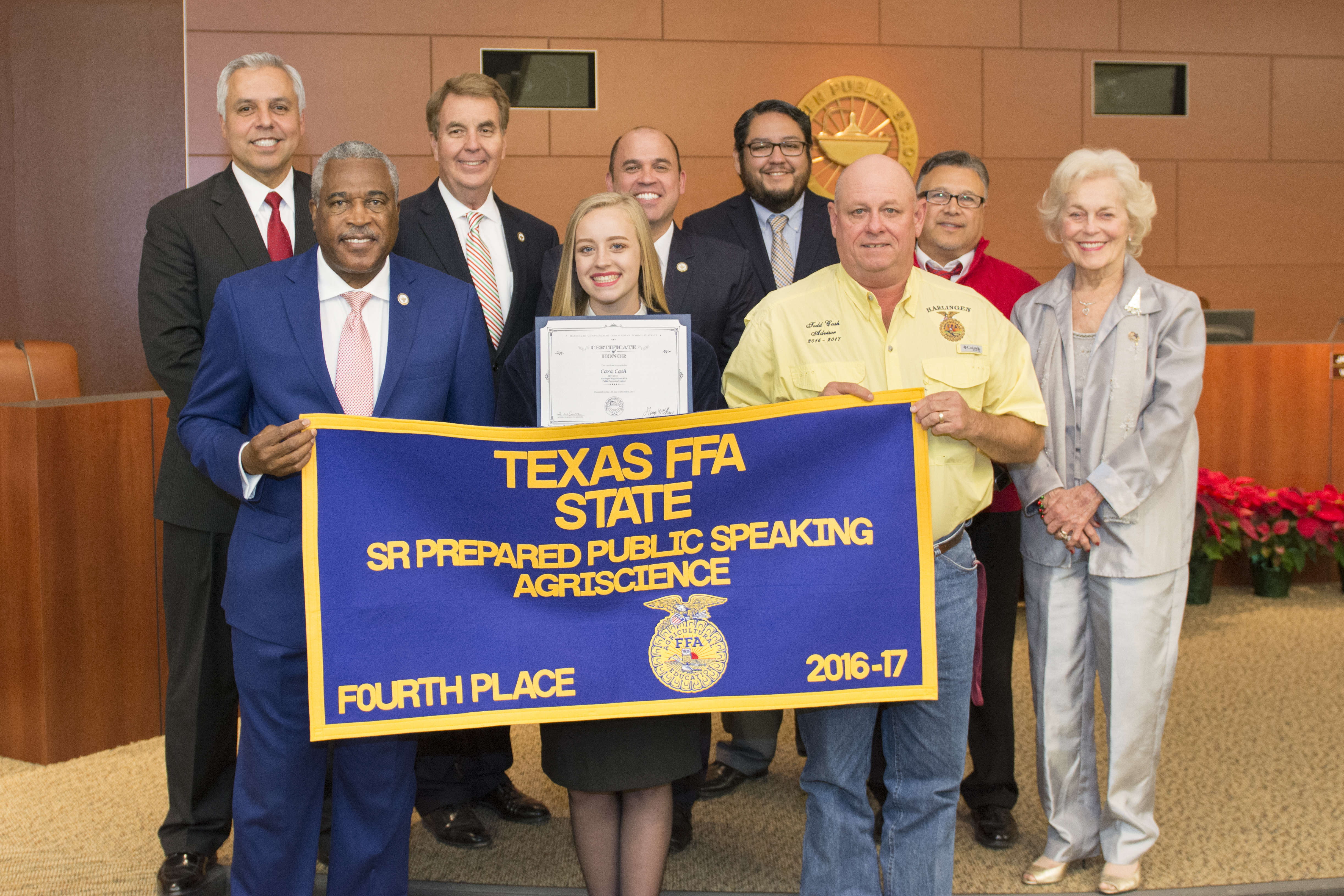 HHS student recognized for success at FFA Public Speaking Contest
