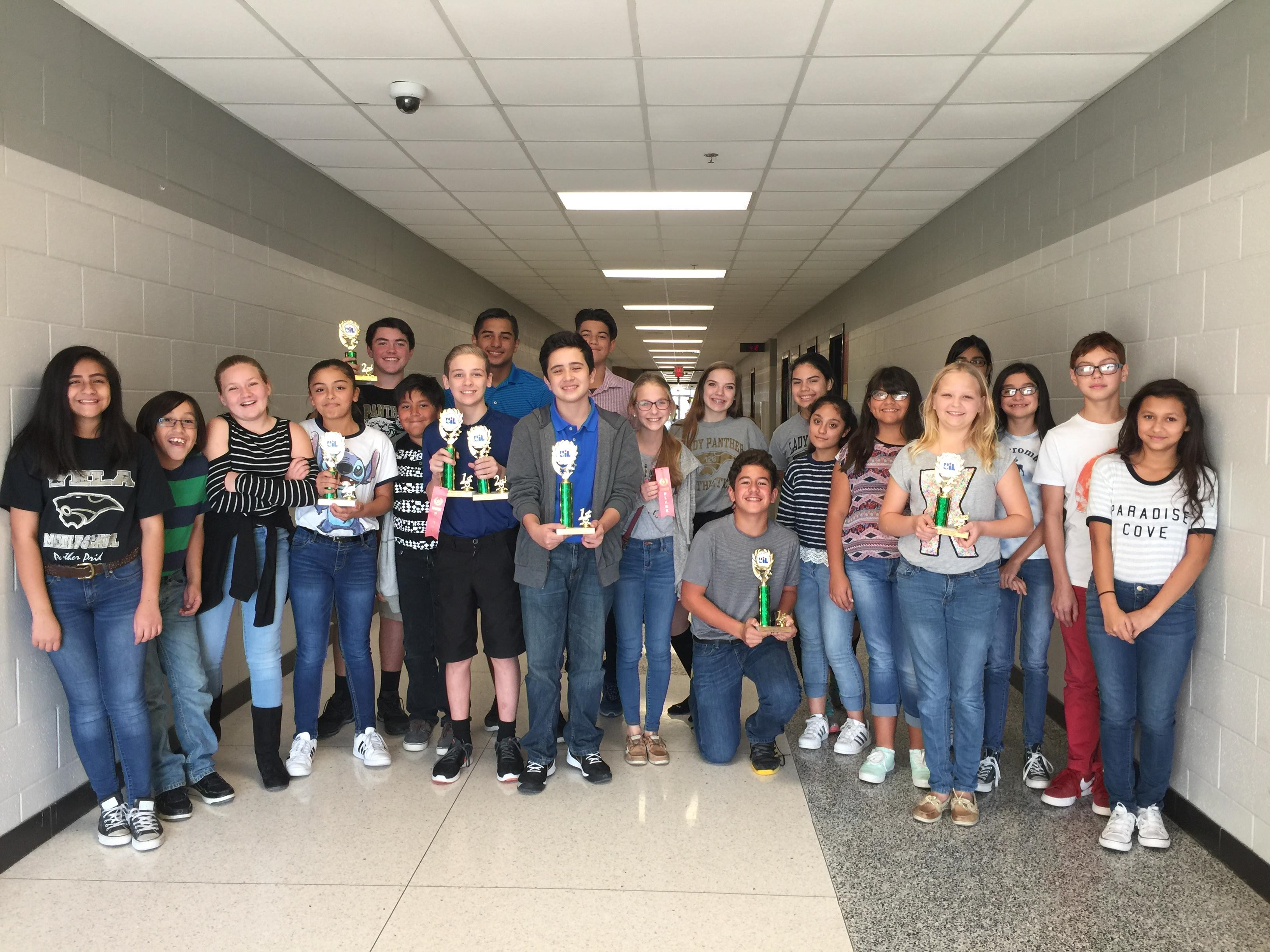 MS speech competitors dominate at UIL Tournament