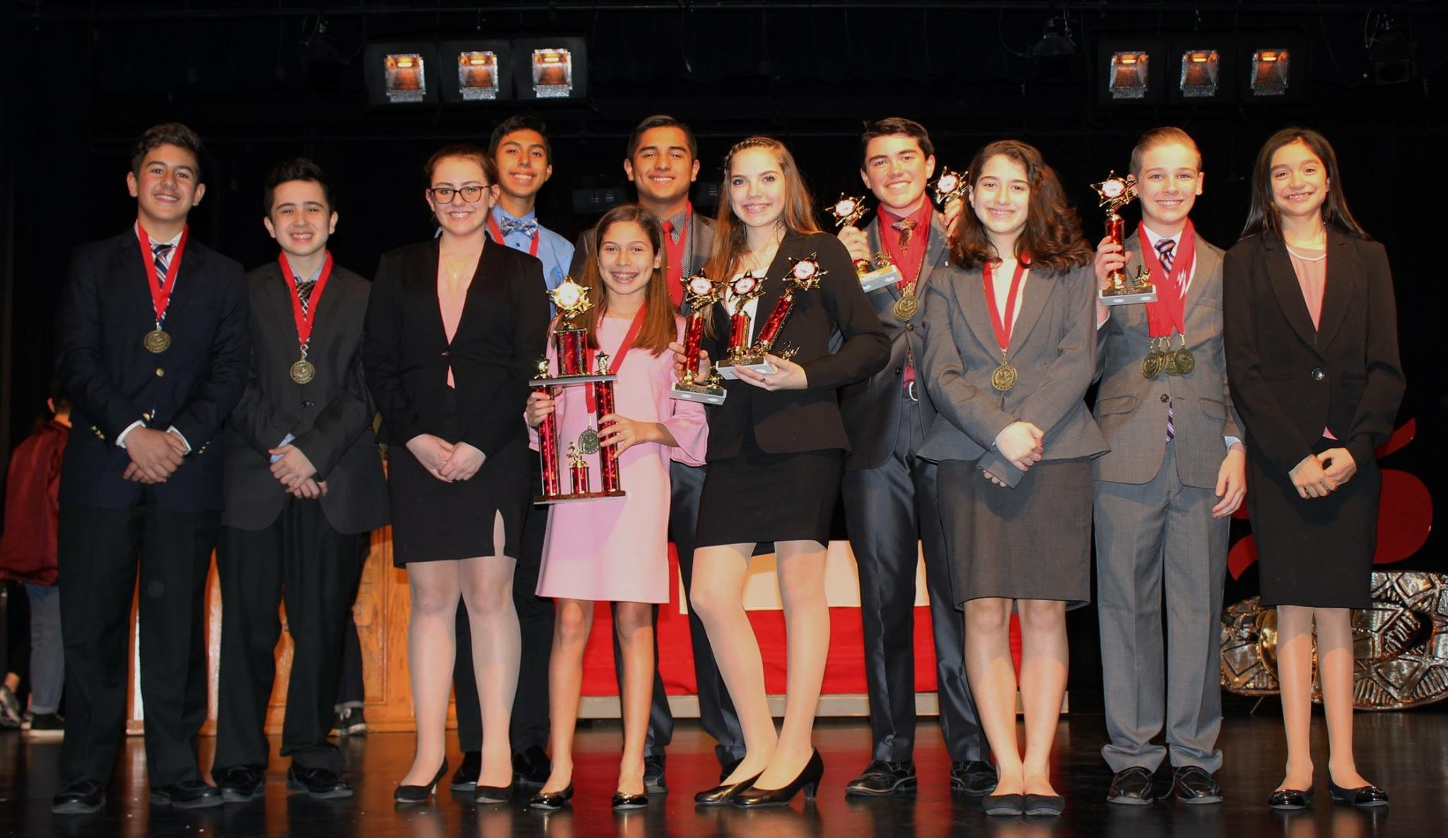 Vela takes third place sweeps in high-school speech contest
