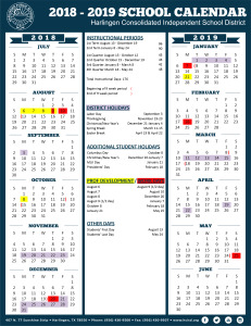 HCISD adopts calendar for 2018-2019 school year