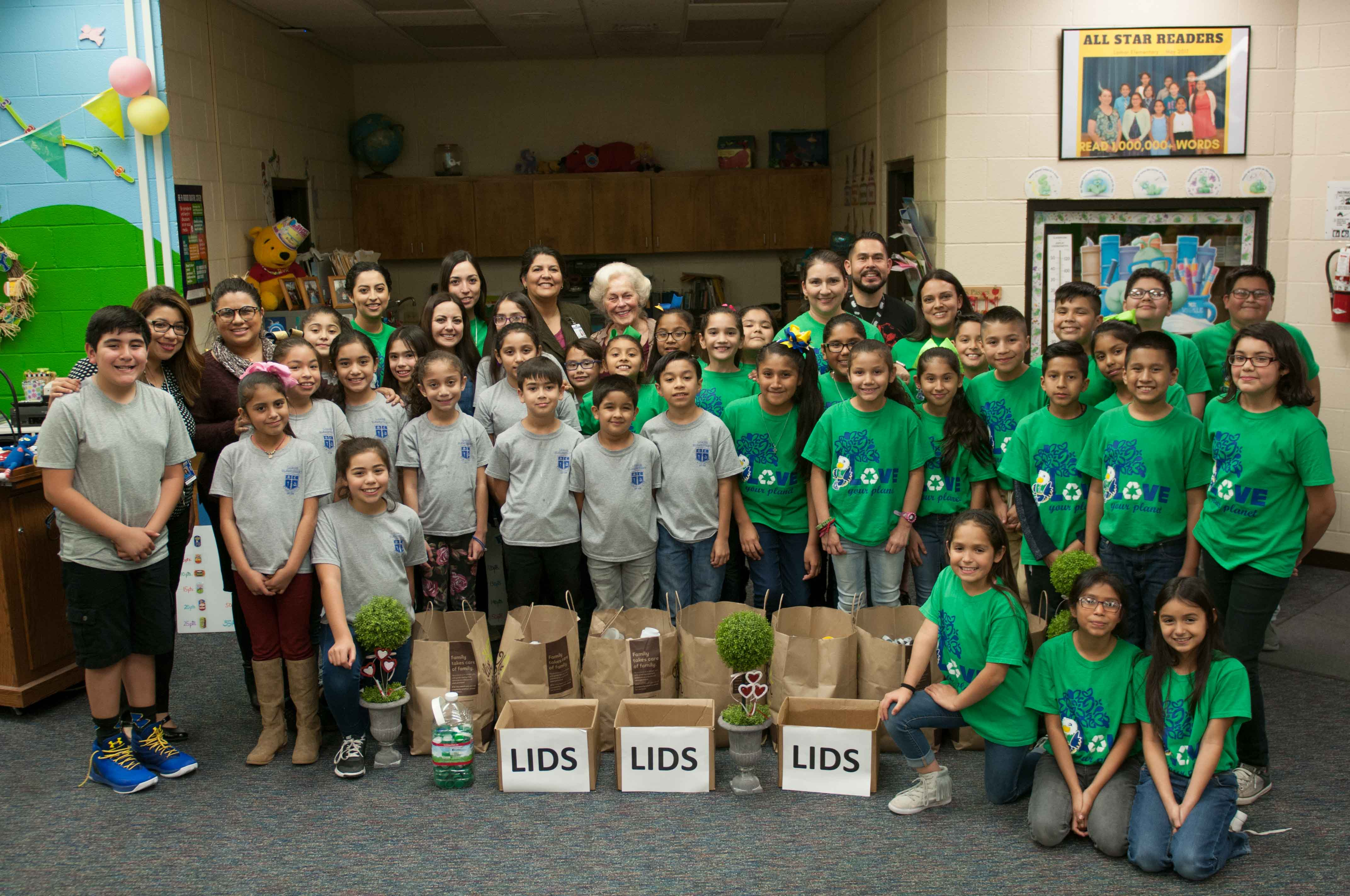 Students collect 50,000 bottle caps to help children in the fight against cancer