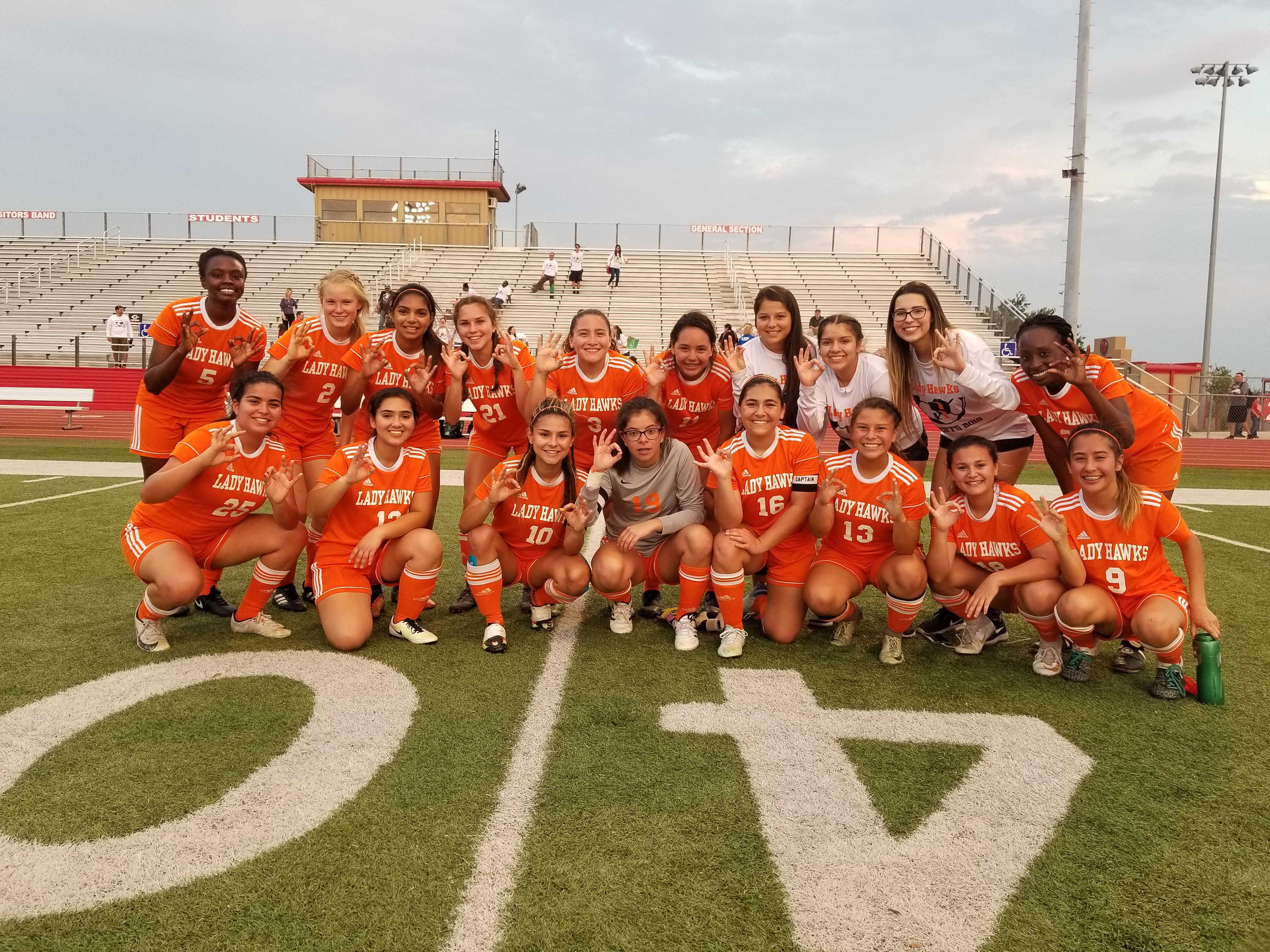 Lady Hawk Soccer named Area Champs