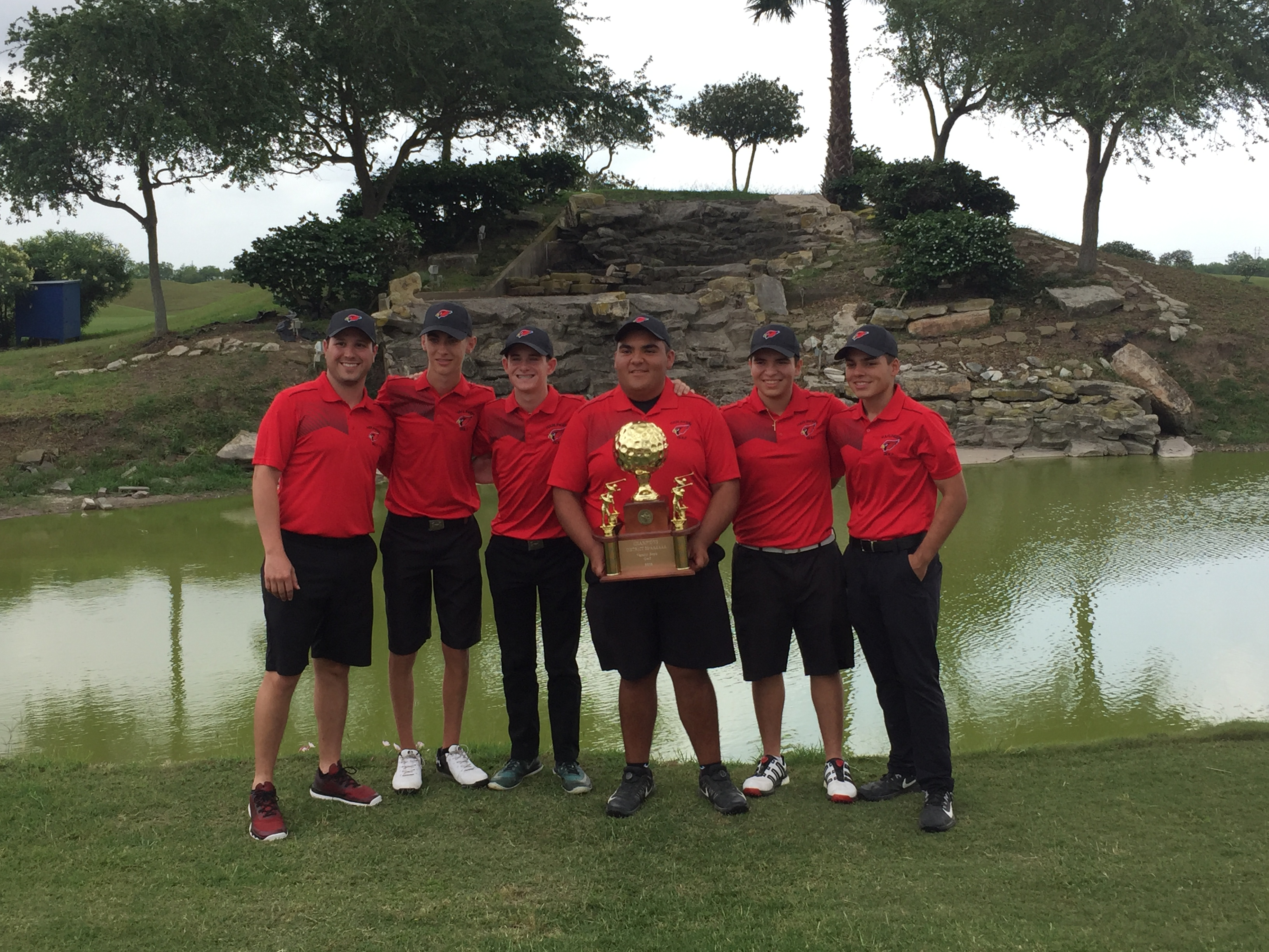 Cardinal Golf Team wins 32-6A District Title