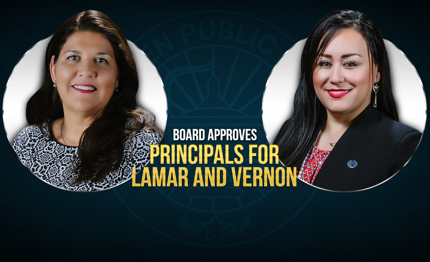 Board approves principals for Lamar and Vernon