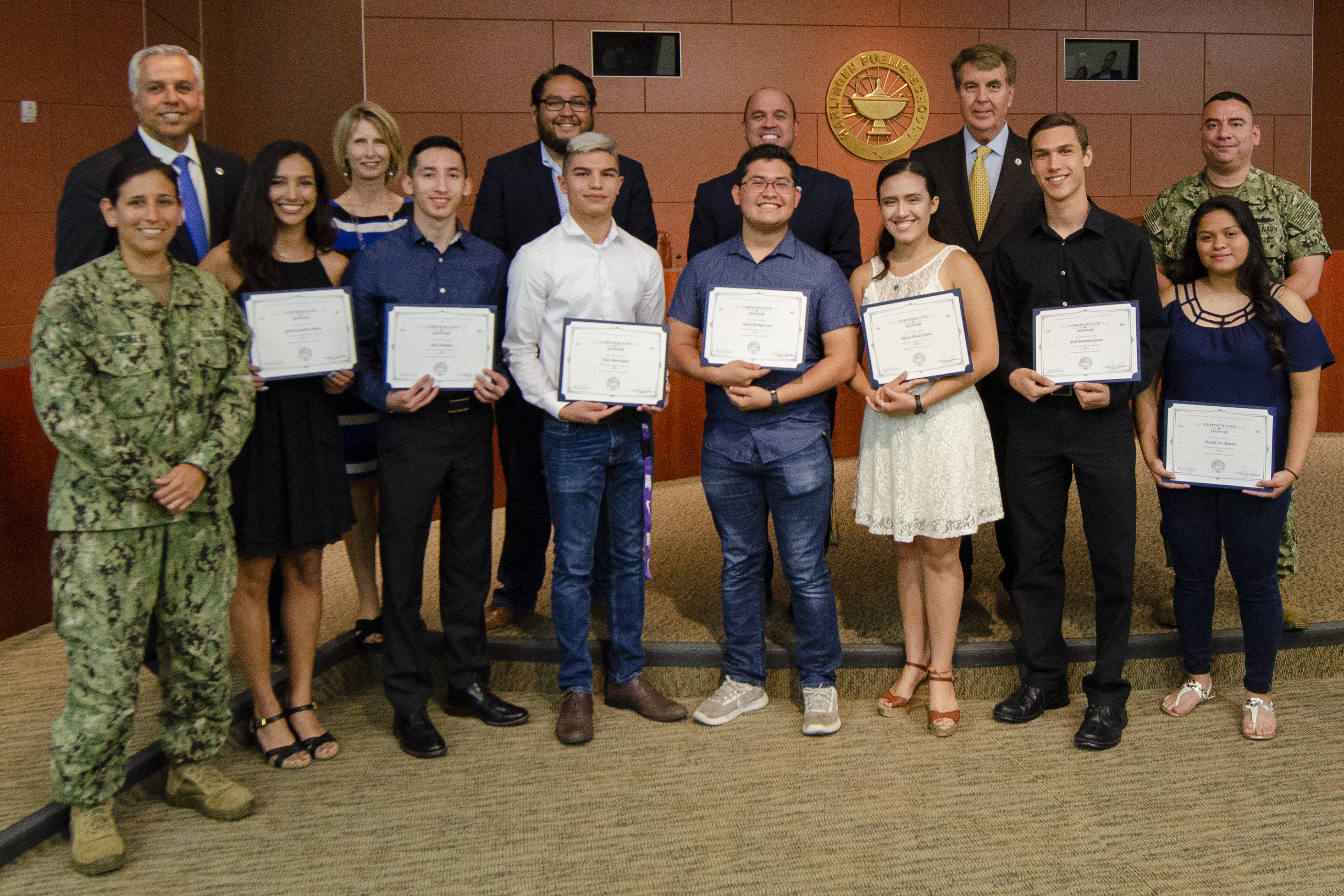 HCISD honors graduates joining the armed forces